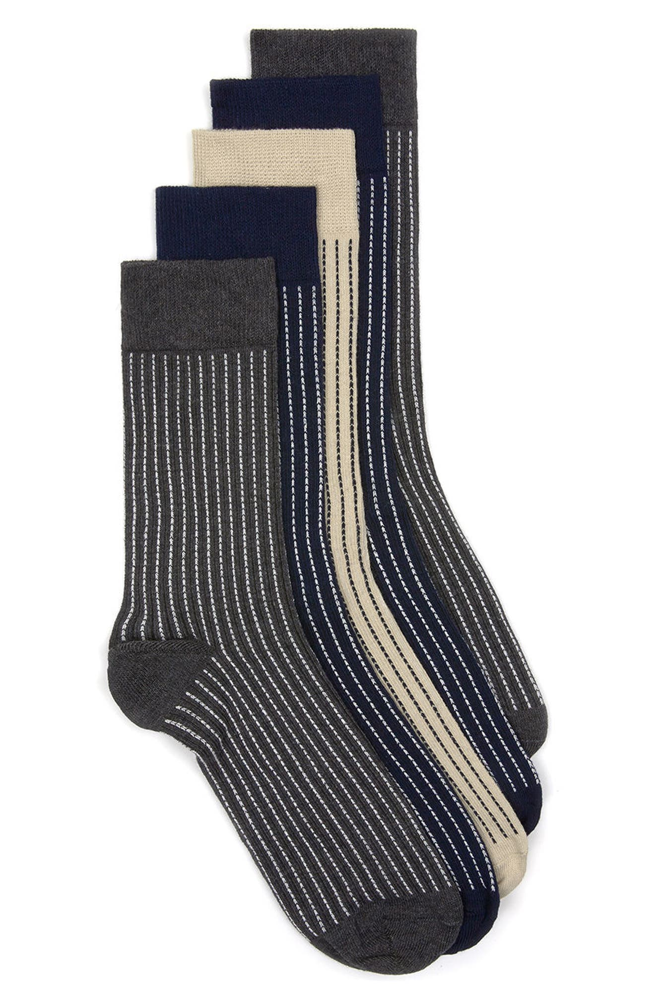 Topman Assorted 5-Pack Stripe Socks