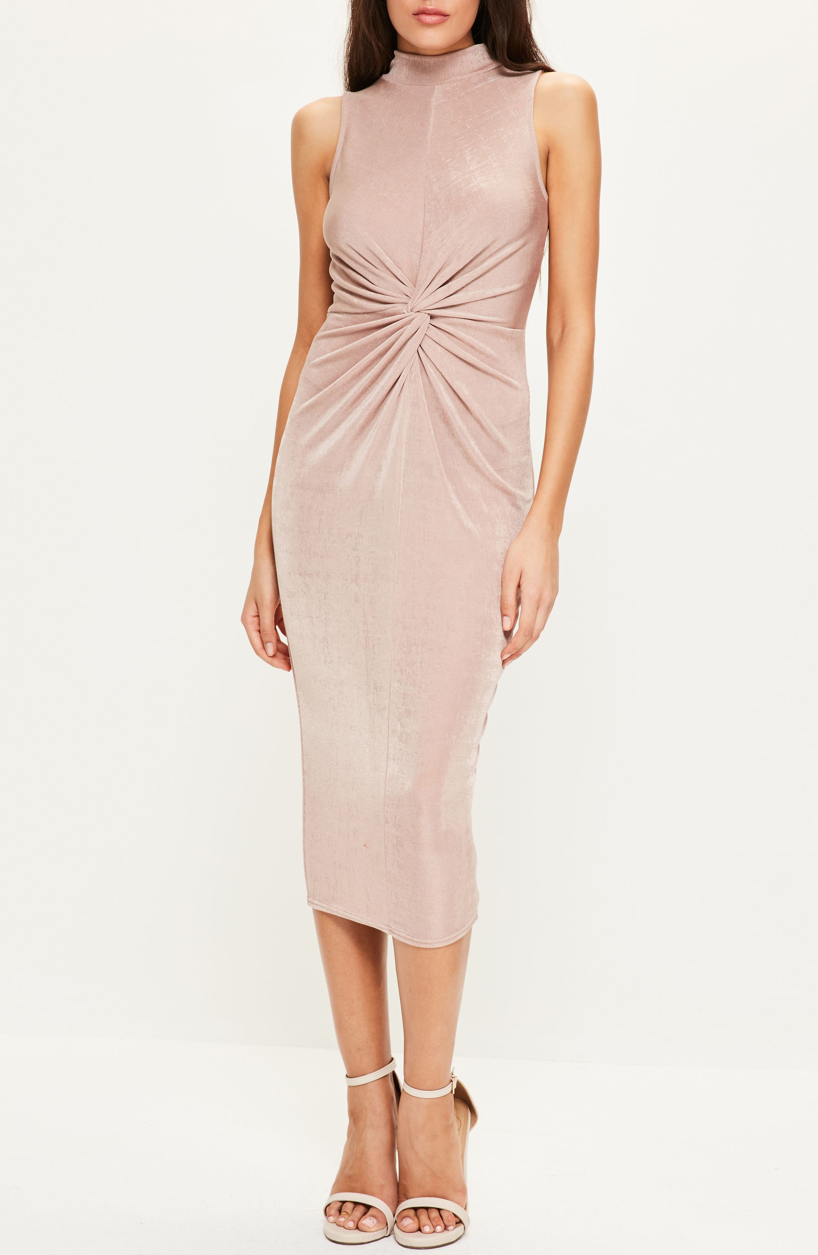 Alternate Image 2  - Missguided Front Knot Midi Dress