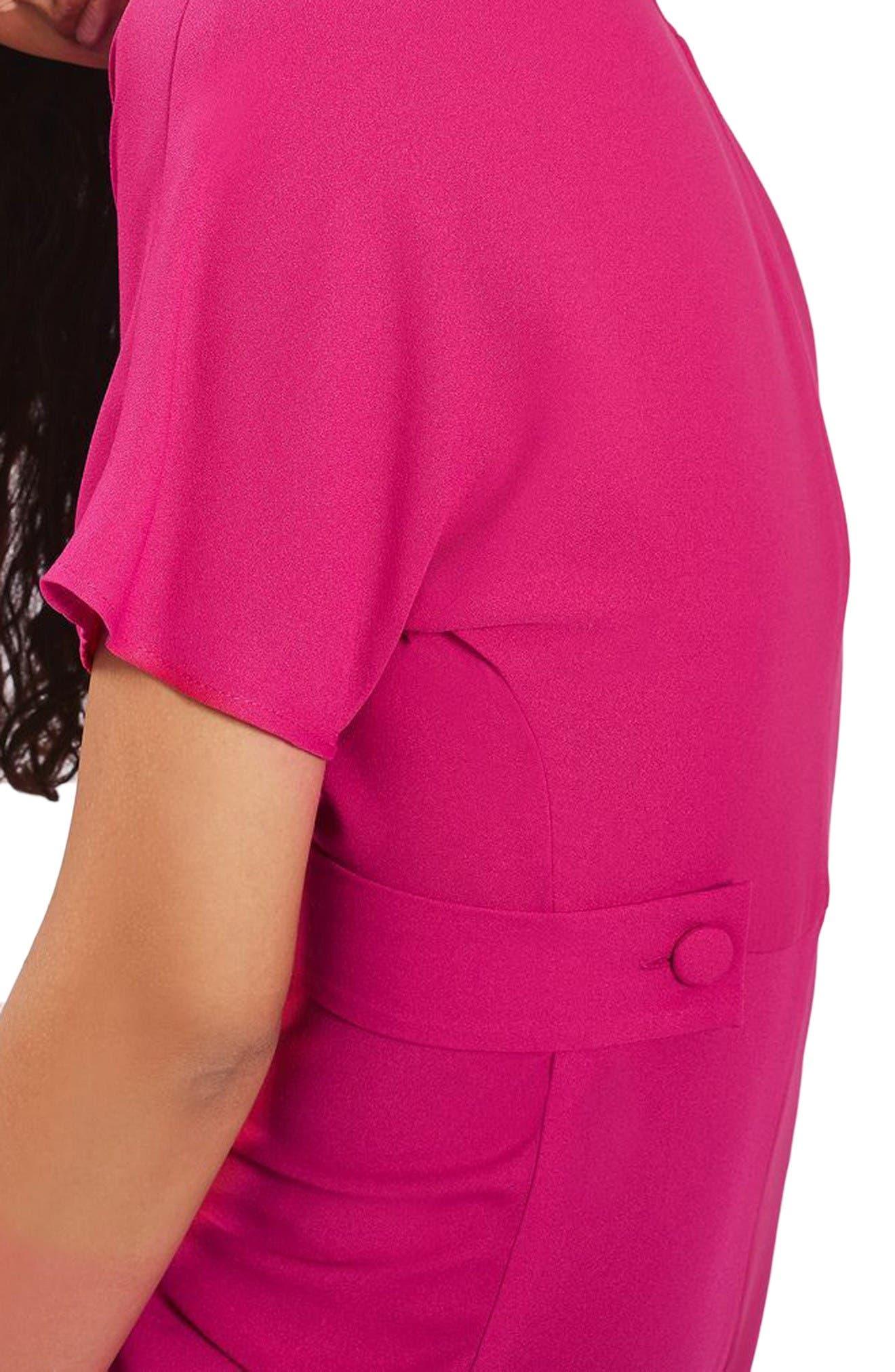Alternate Image 3  - Topshop Origami Drape Neck Midi Dress
