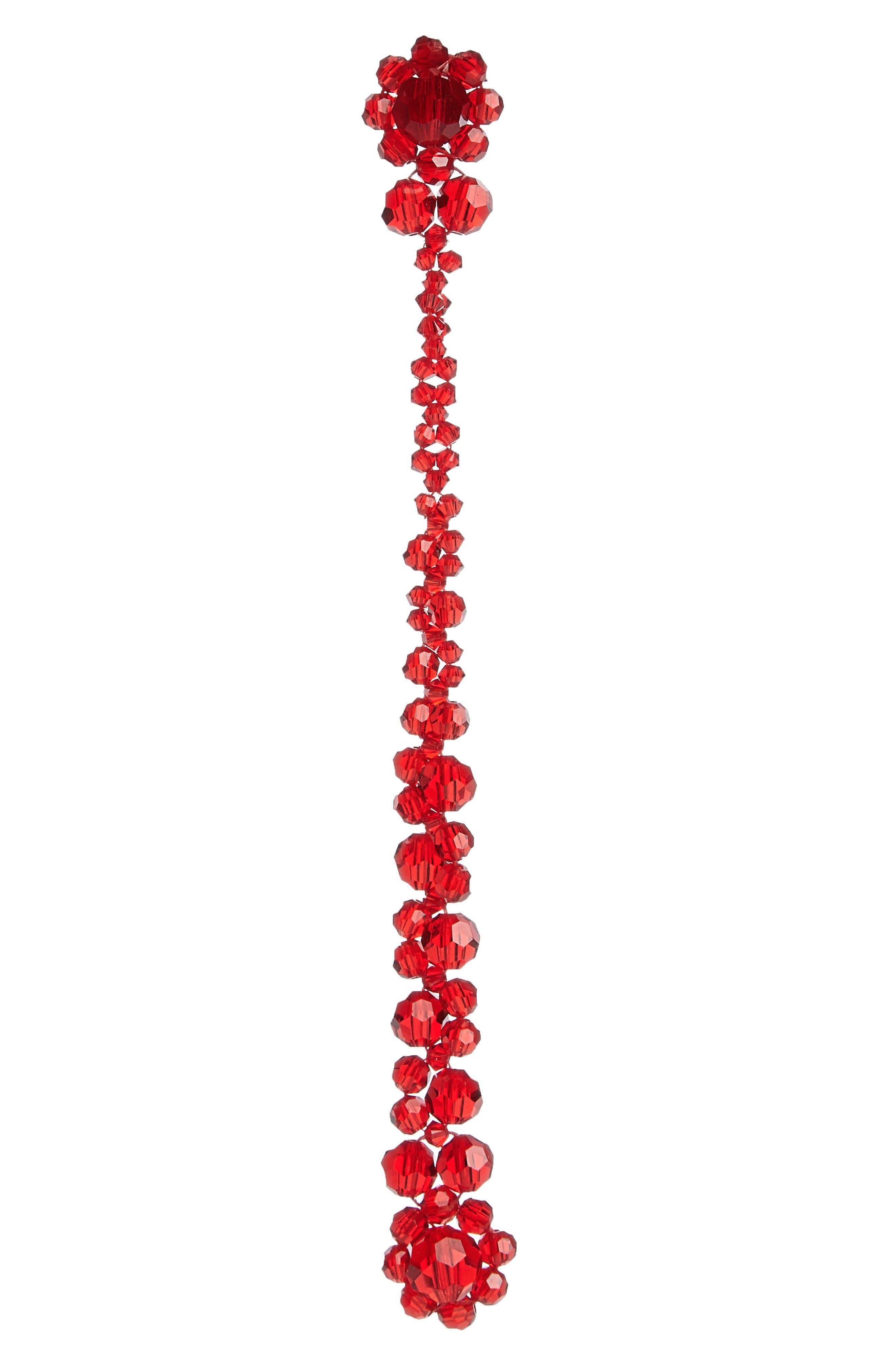 Alternate Image 1 Selected - Simone Rocha Flower Beaded Drop Earring