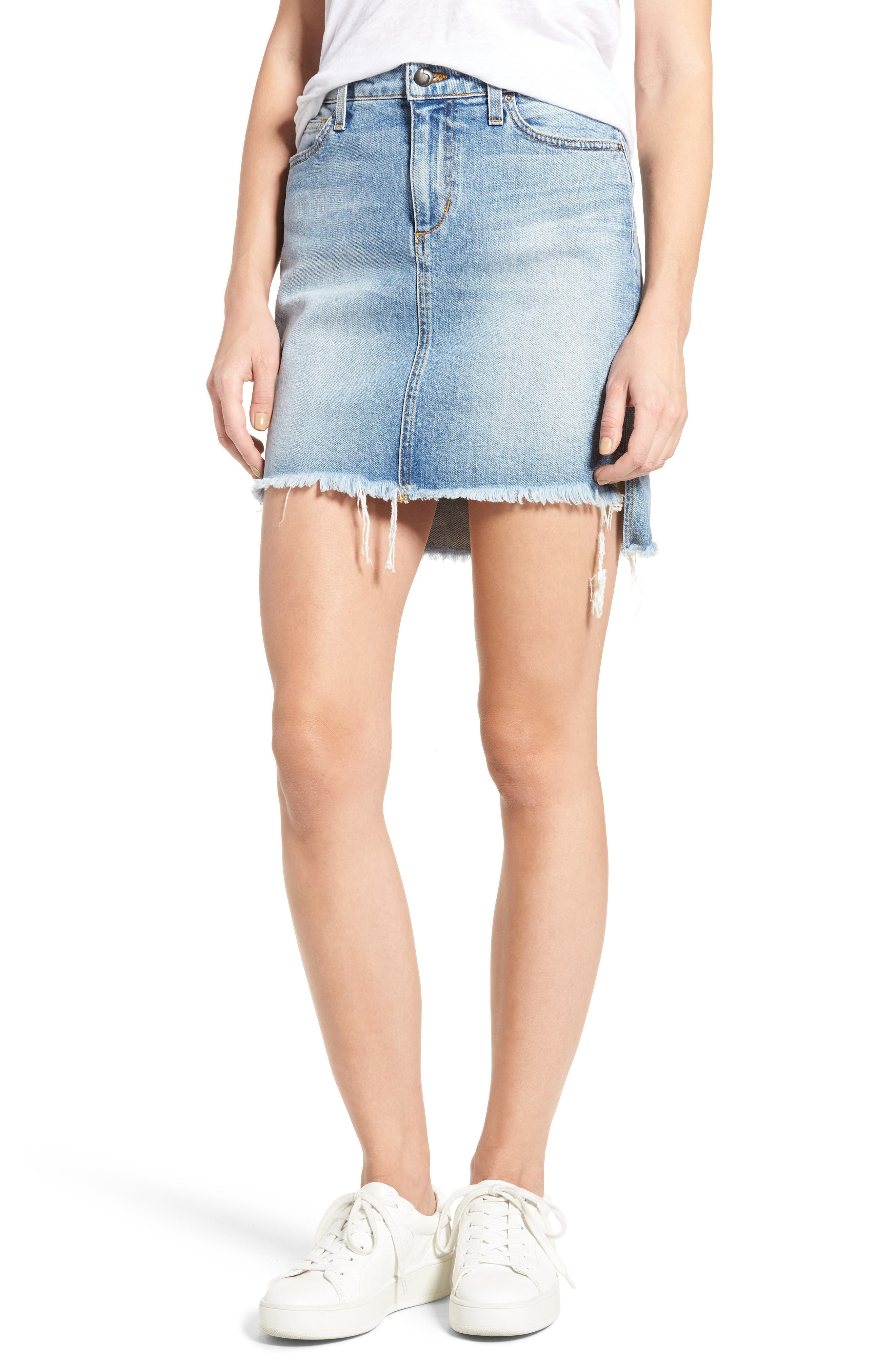 Joe's Collector's - High/Low Denim Pencil Skirt (Rinna)