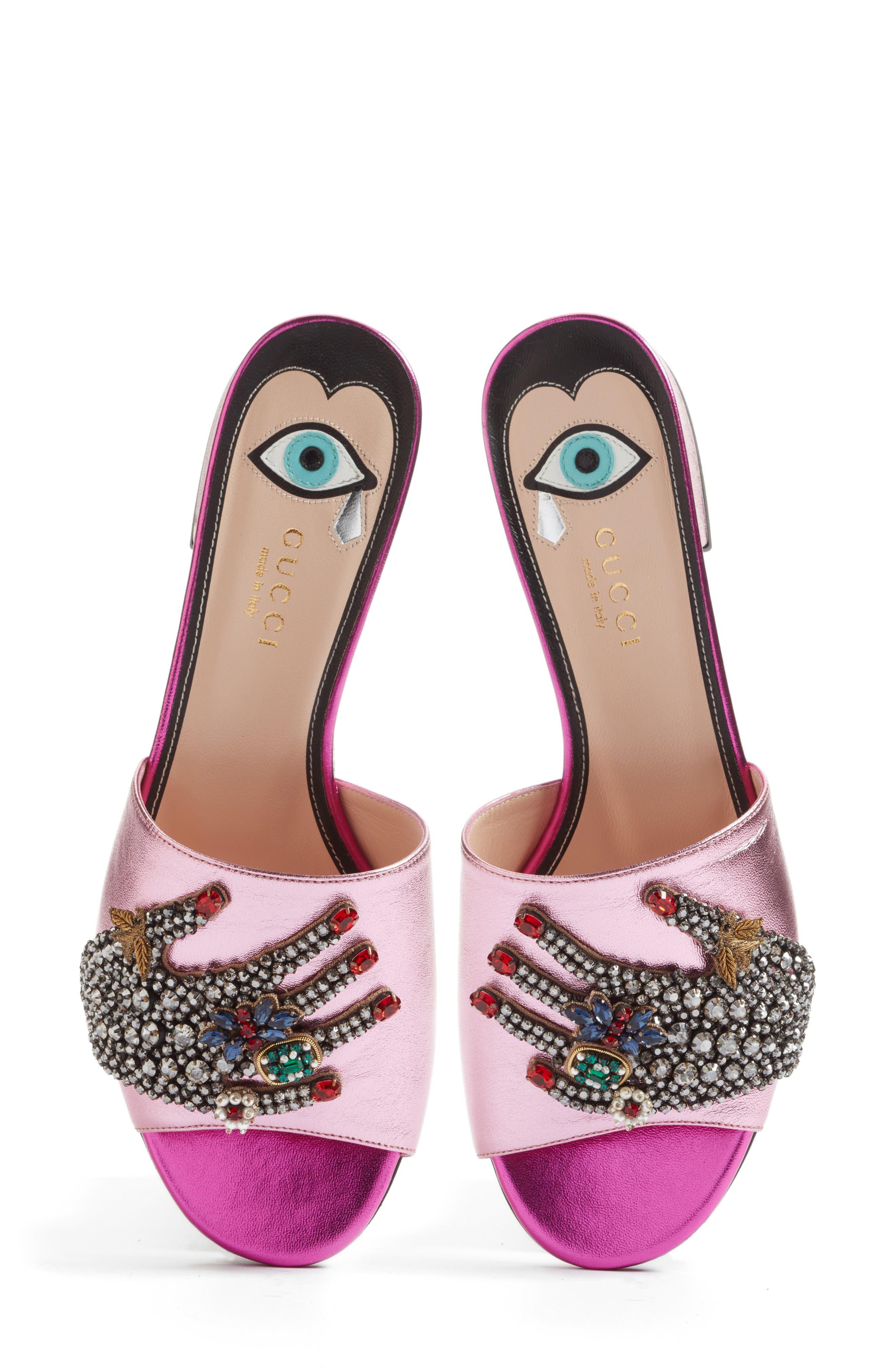 Main Image - Gucci Wangy Embellished Slide Sandal