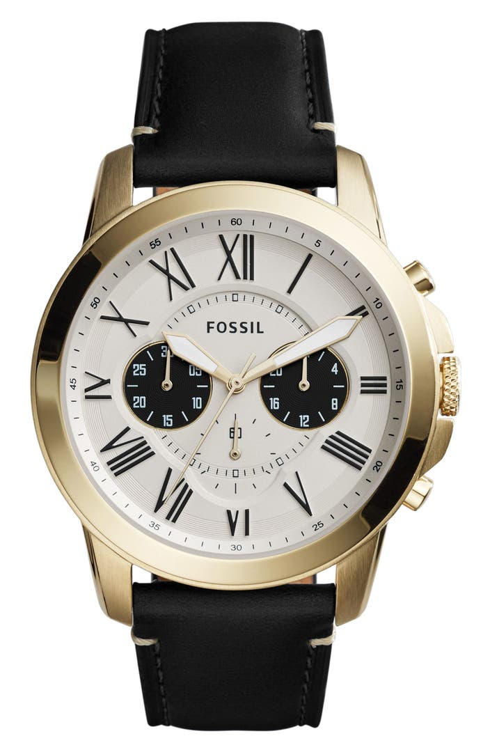 men s boss watches watches for men nordstrom fossil grant chronograph leather strap watch 44mm