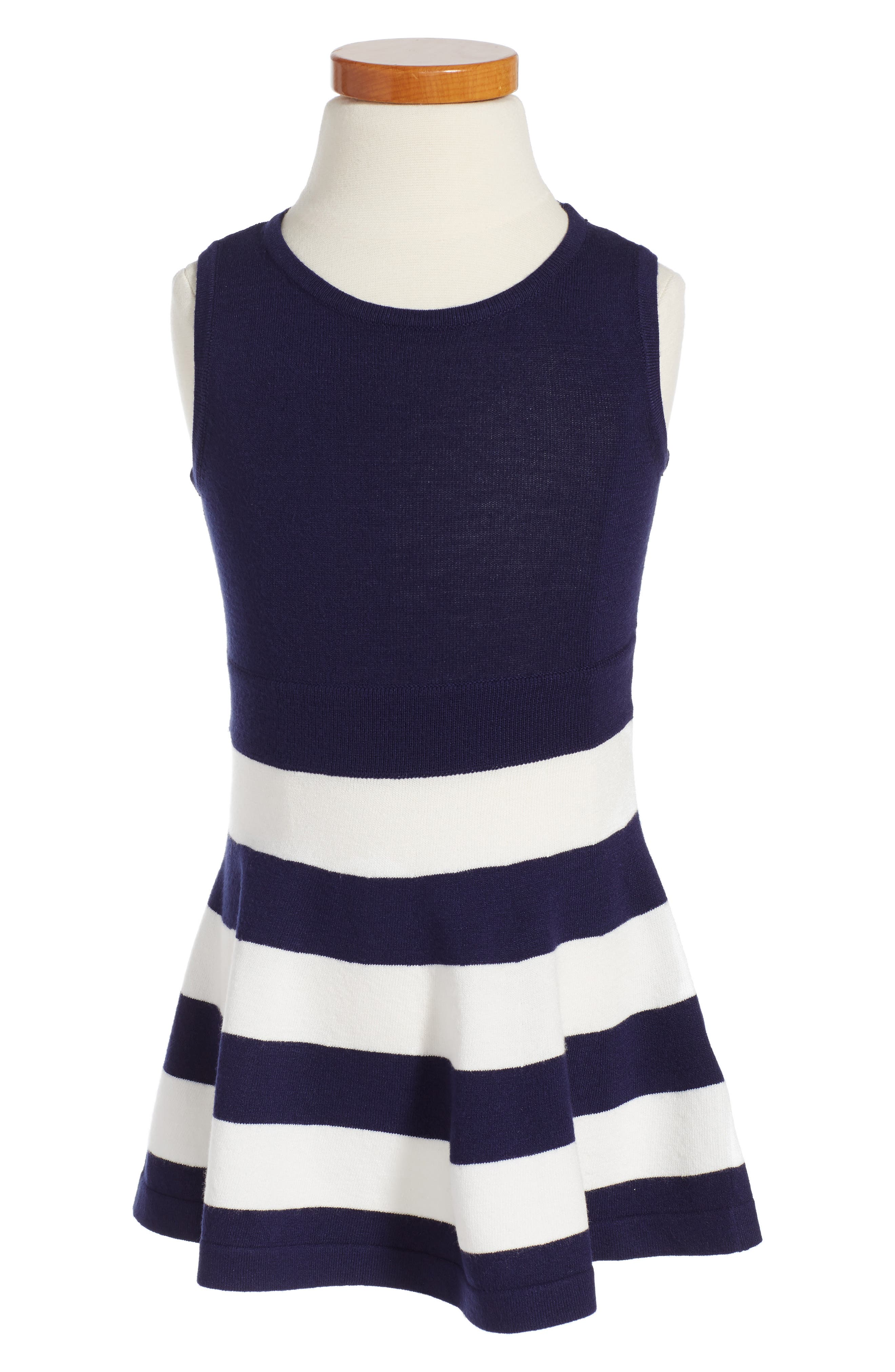 Milly Minis Stripe Fit & Flare Dress (Toddler Girls, Little Girls & Big Girls)