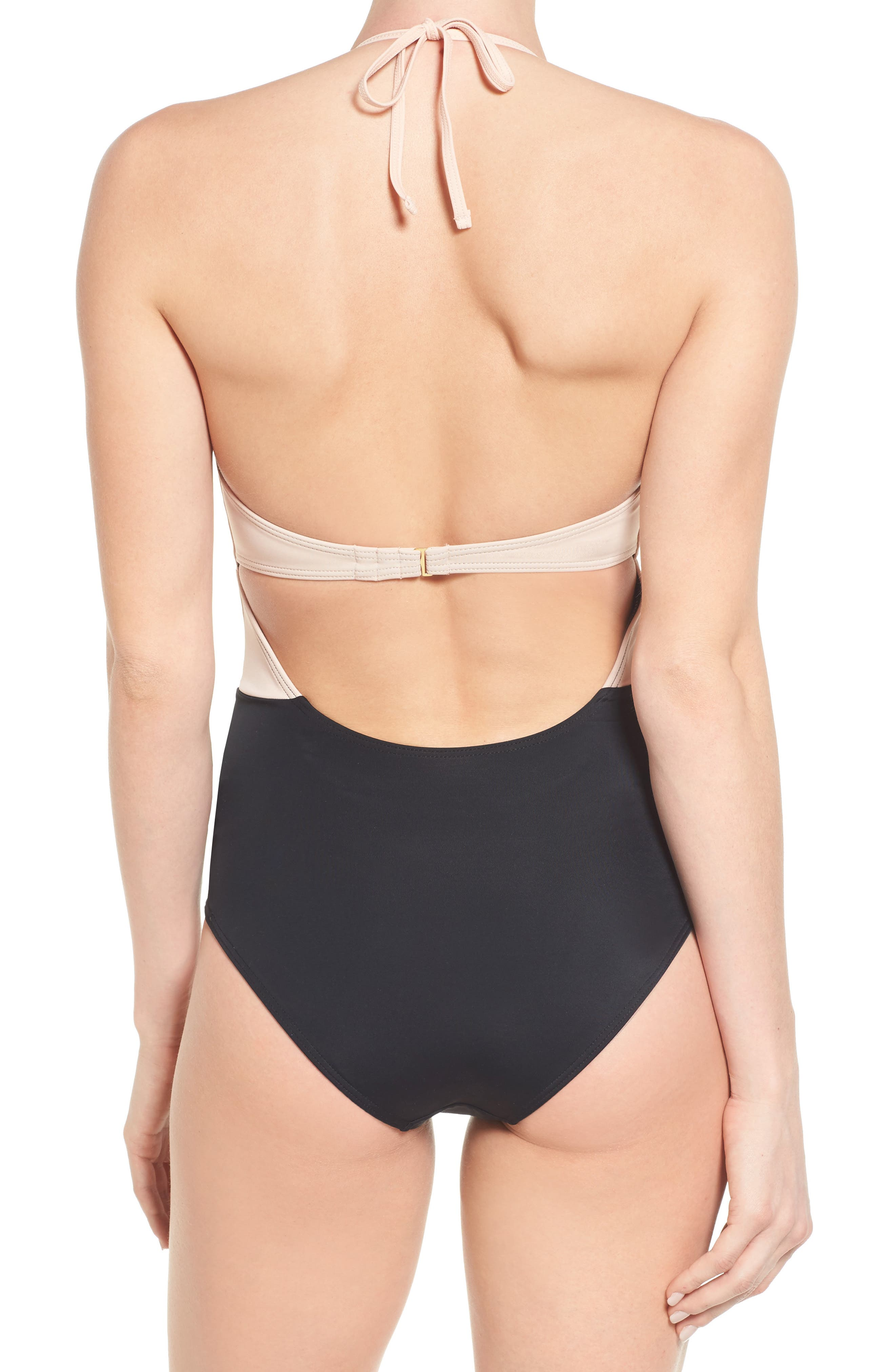 Alternate Image 2  - Topshop Scallop One-Piece Swimsuit