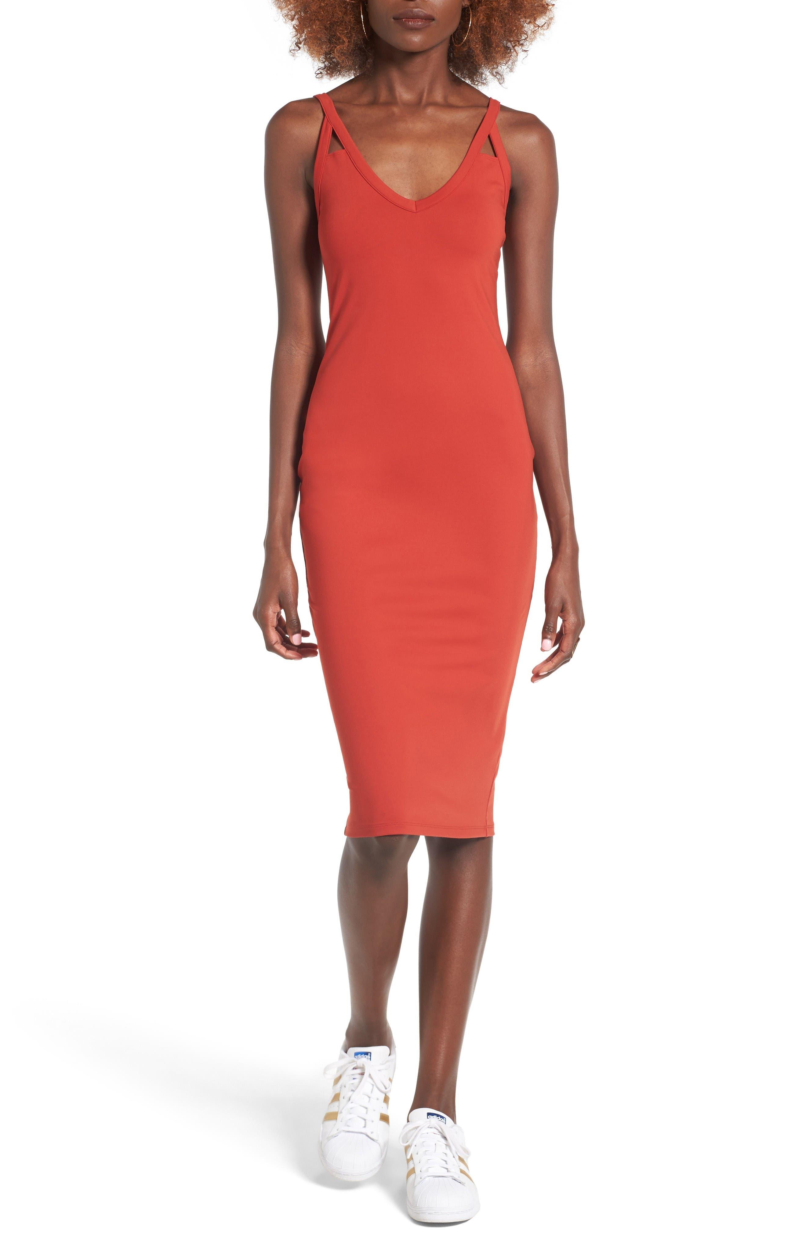 Leith Cutout Strap Body-Con Dress