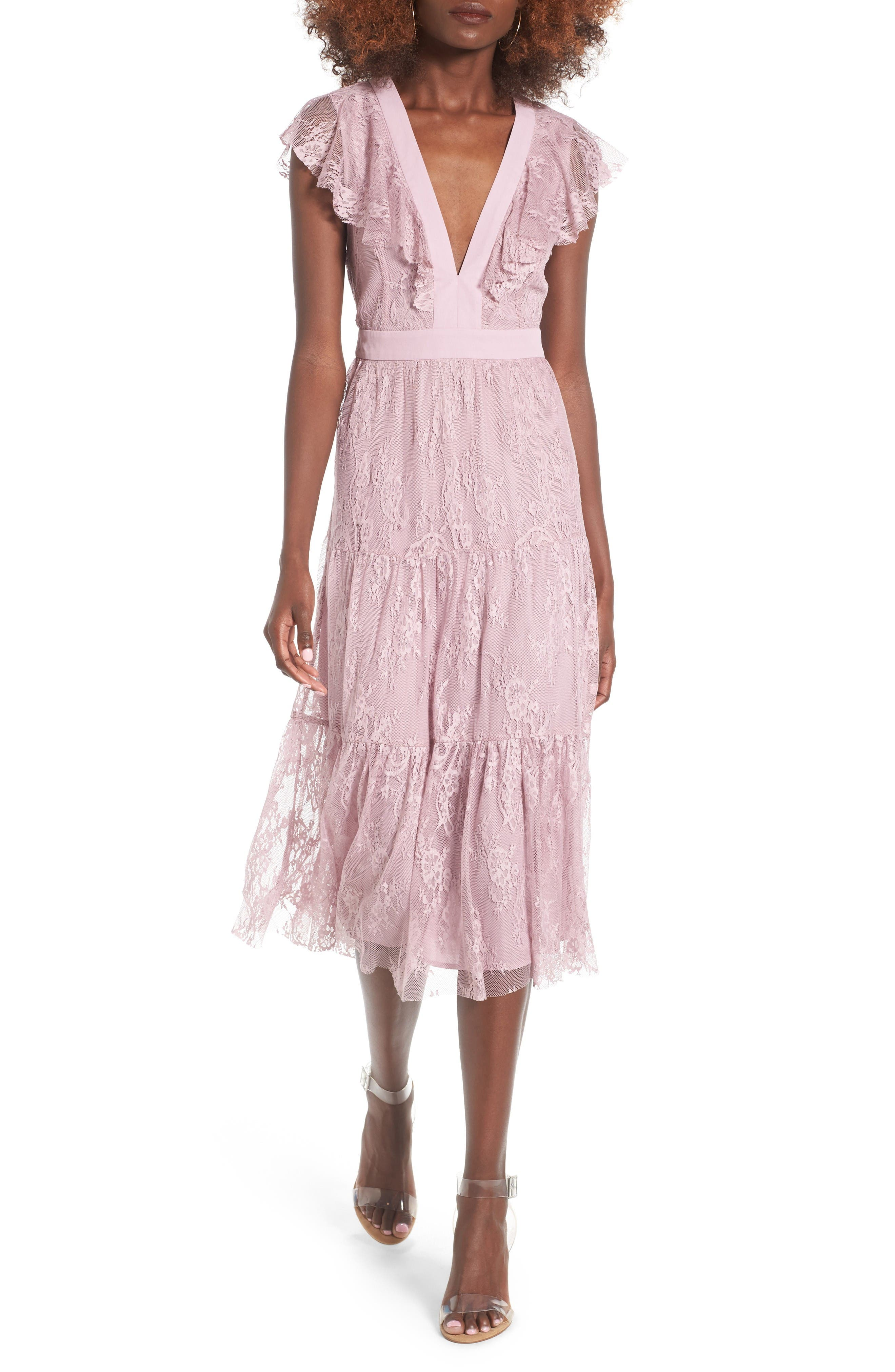 Alternate Image 1 Selected - WAYF Hadley Lace Midi Dress