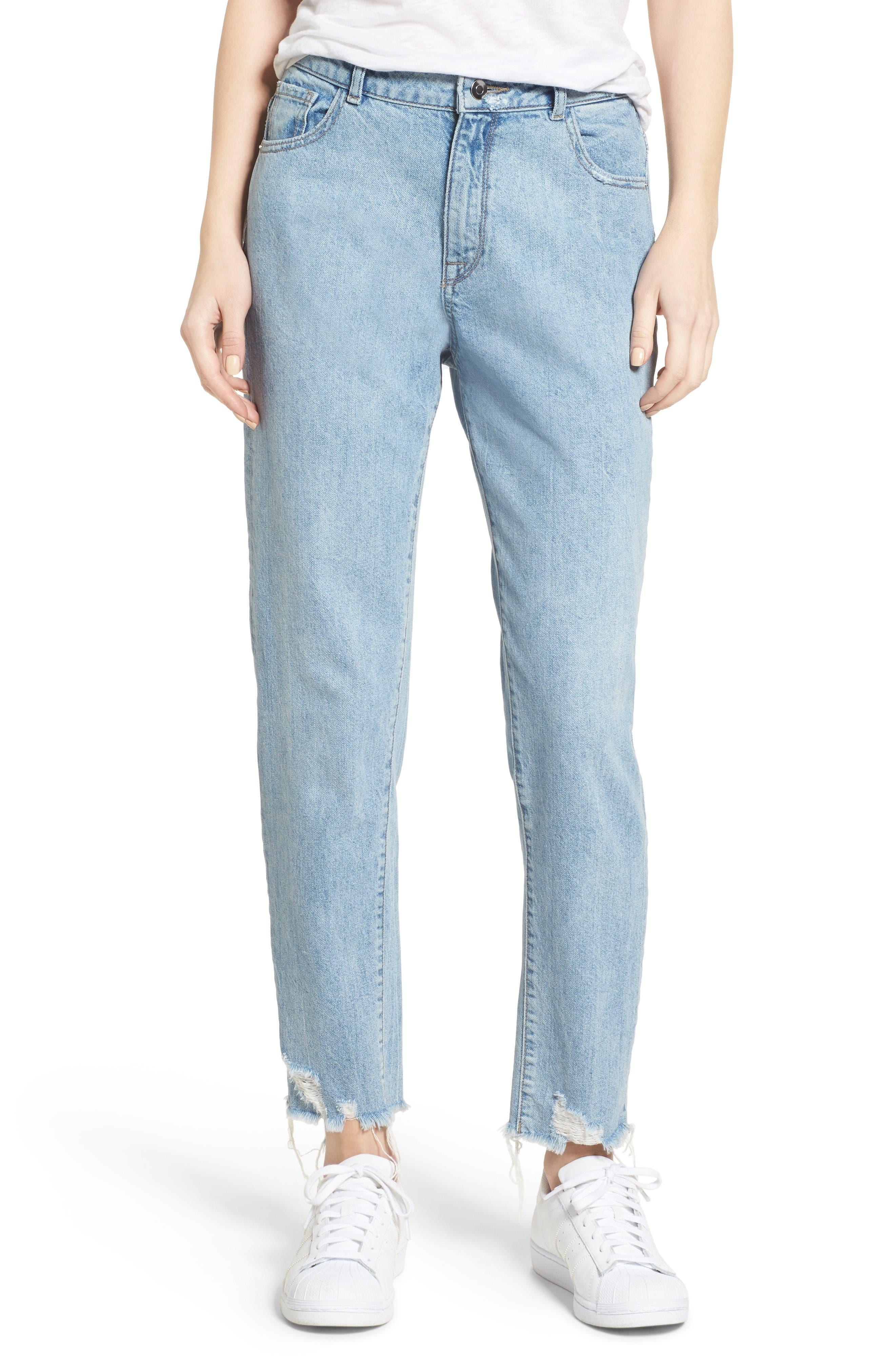 DL1961 Goldie High Waist Crop Taper Leg Jeans (Plunged)