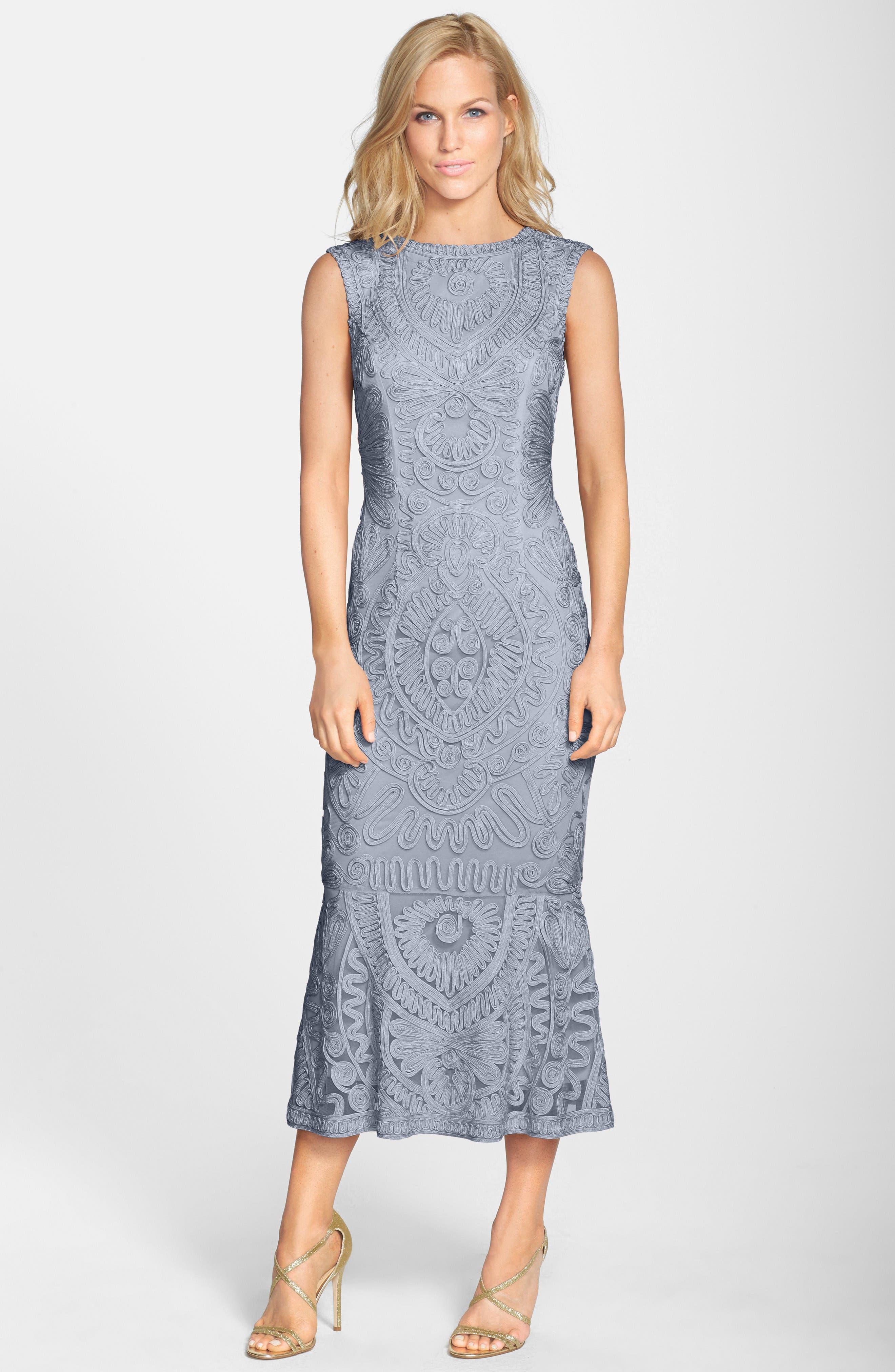 Main Image - JS Collections Soutache Mesh Dress