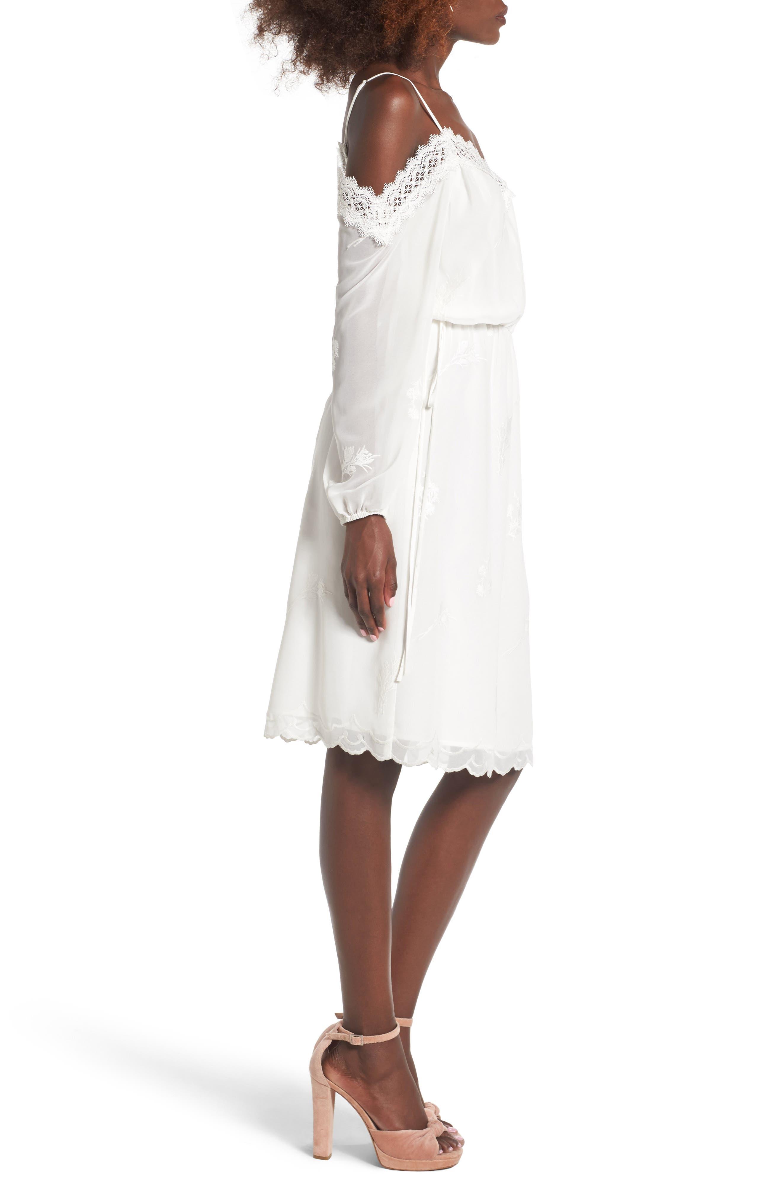 Alternate Image 3  - Wayf Amelia Cold Shoulder Dress