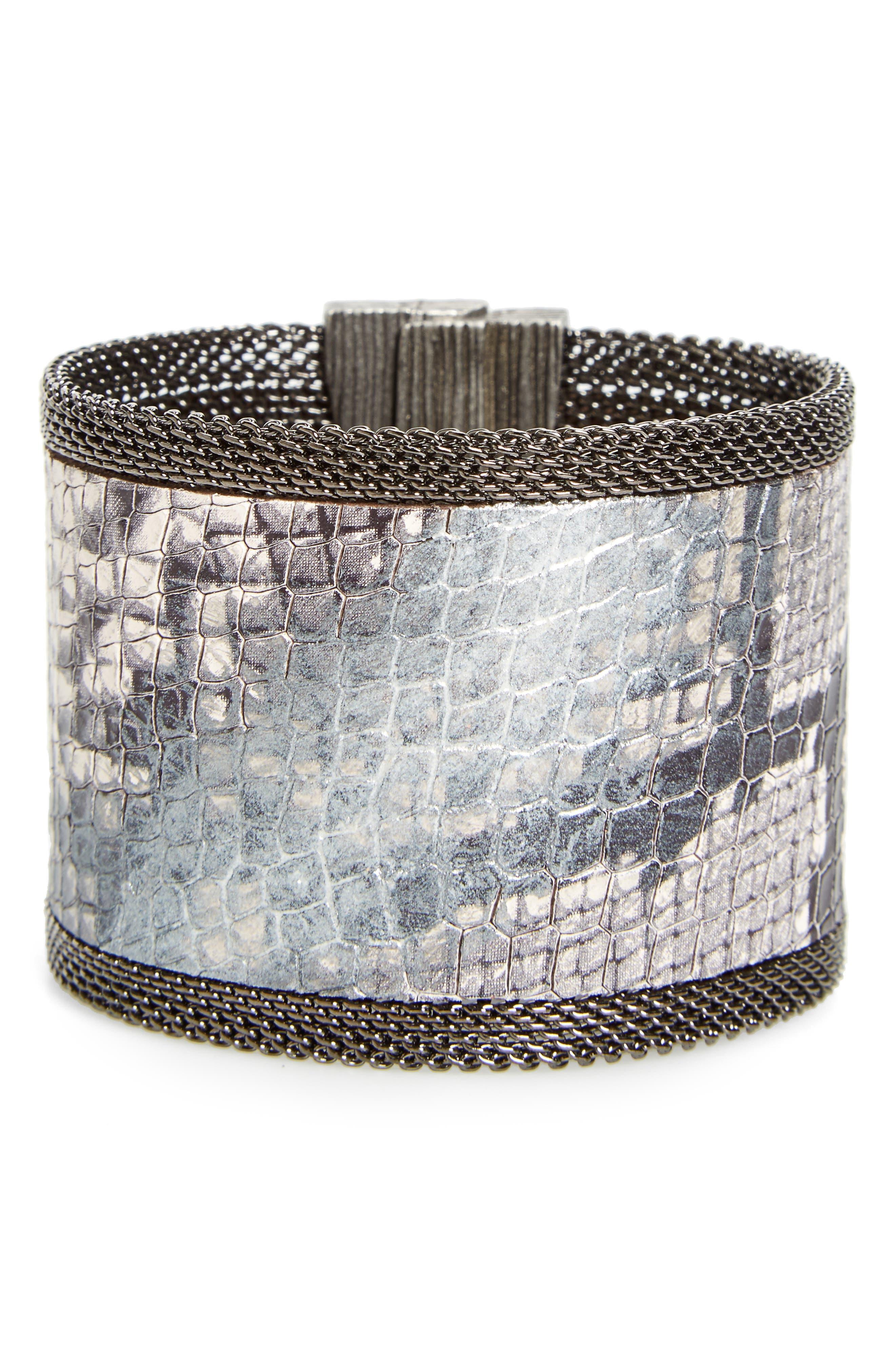 CYNTHIA DESSER Genuine Snakeskin Cuff