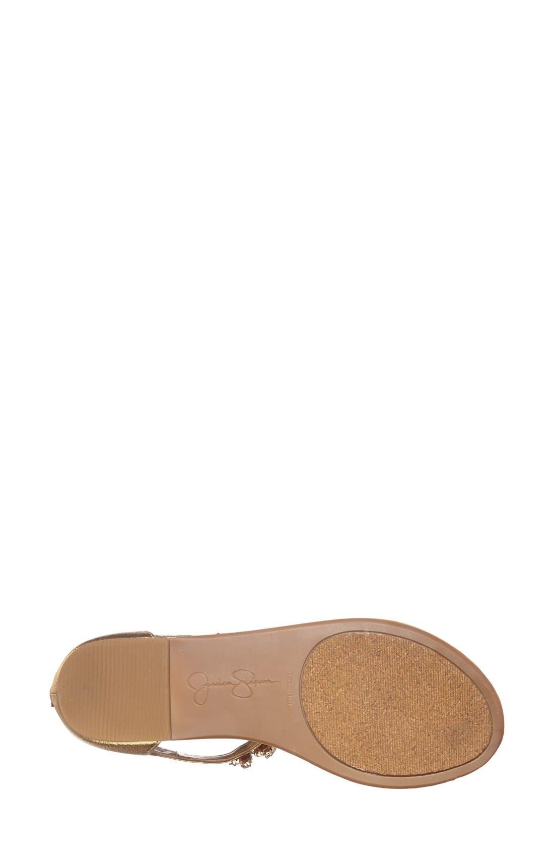 Alternate Image 4  - Jessica Simpson 'Radient' Crystal Embellished Sandal (Women)