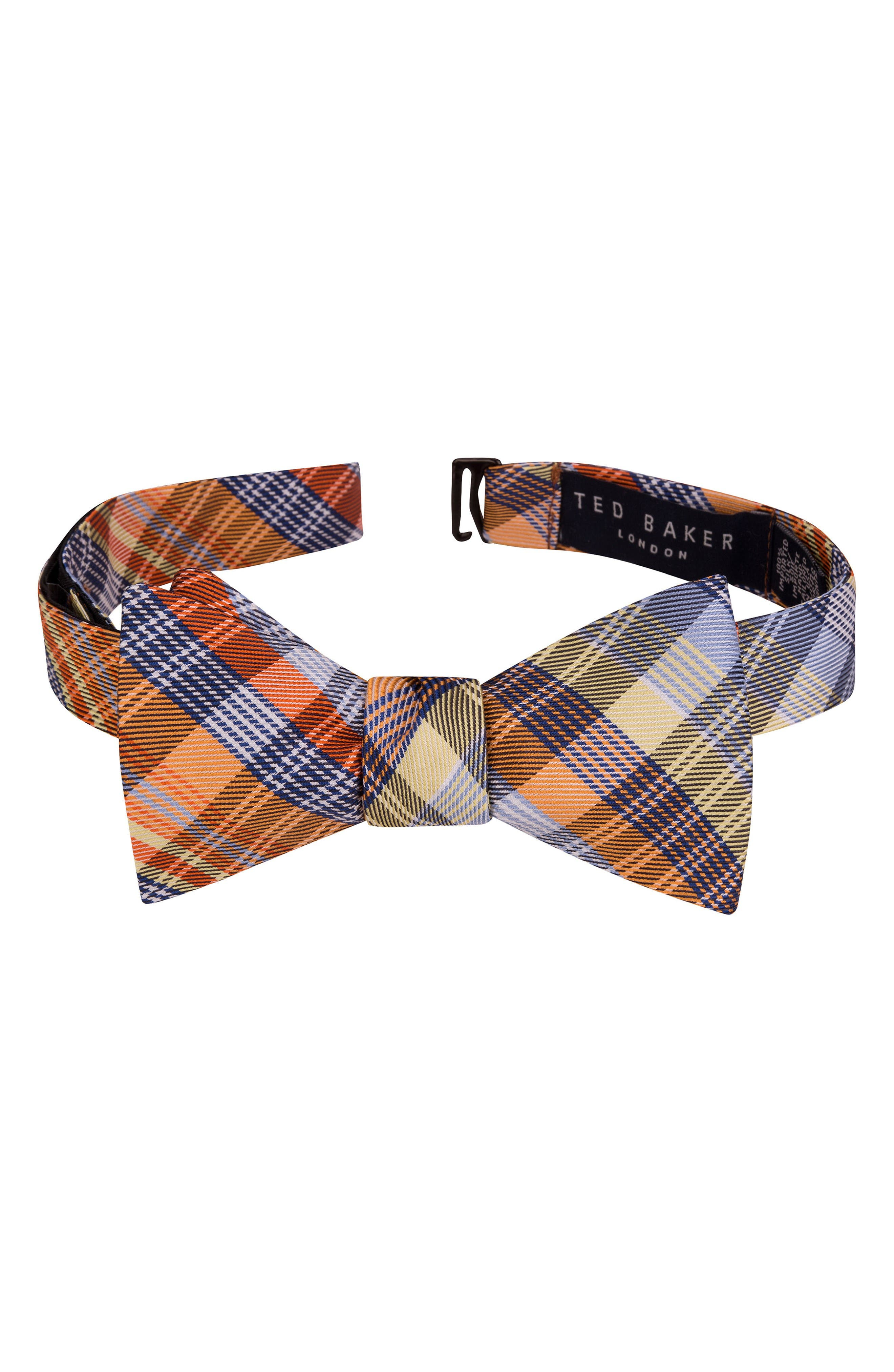 Ted Baker London Pleasant Plaid Bow Tie