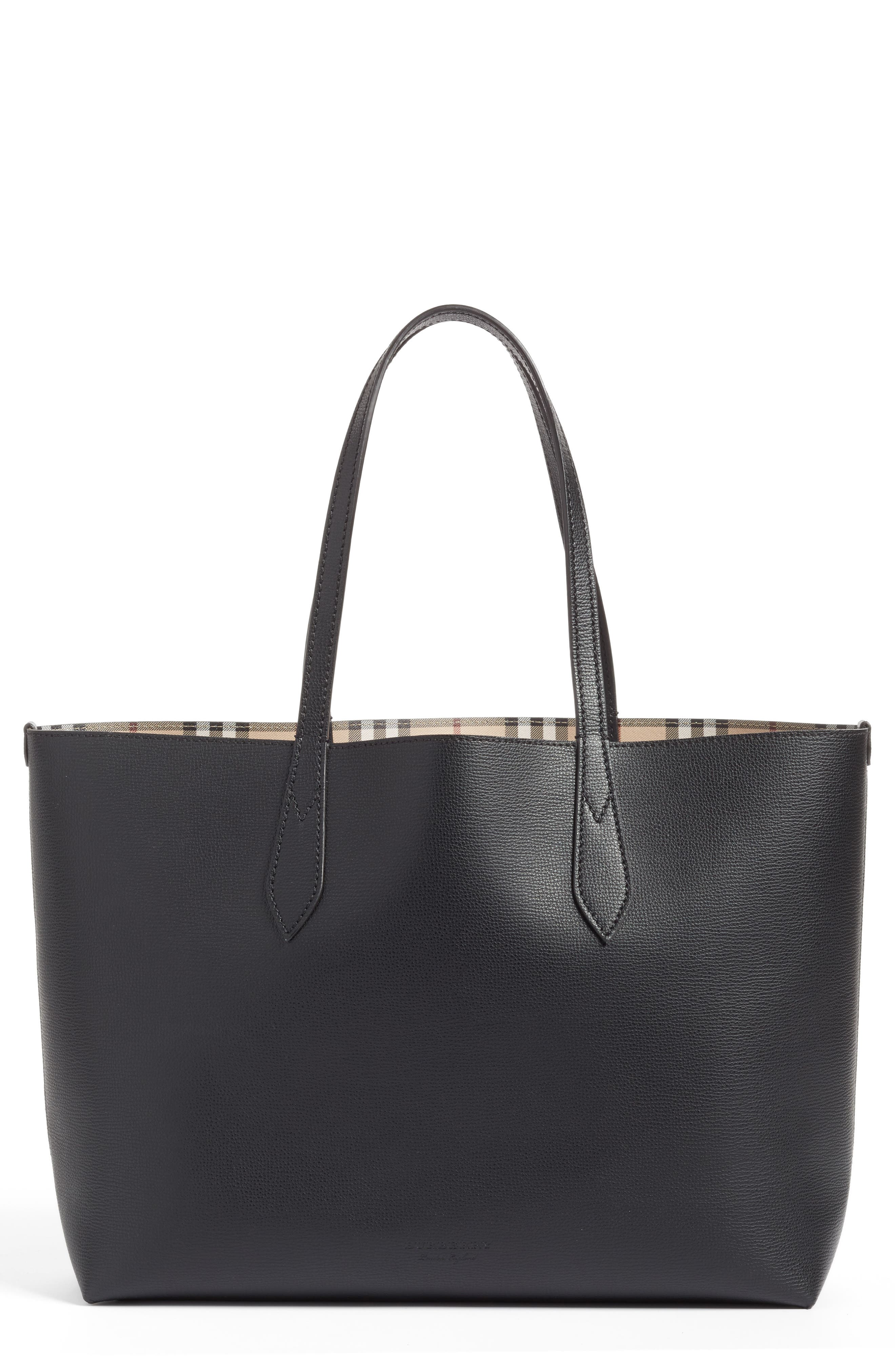 Alternate Image 1 Selected - Burberry Medium Lavenby Reversible Calfskin Leather Tote