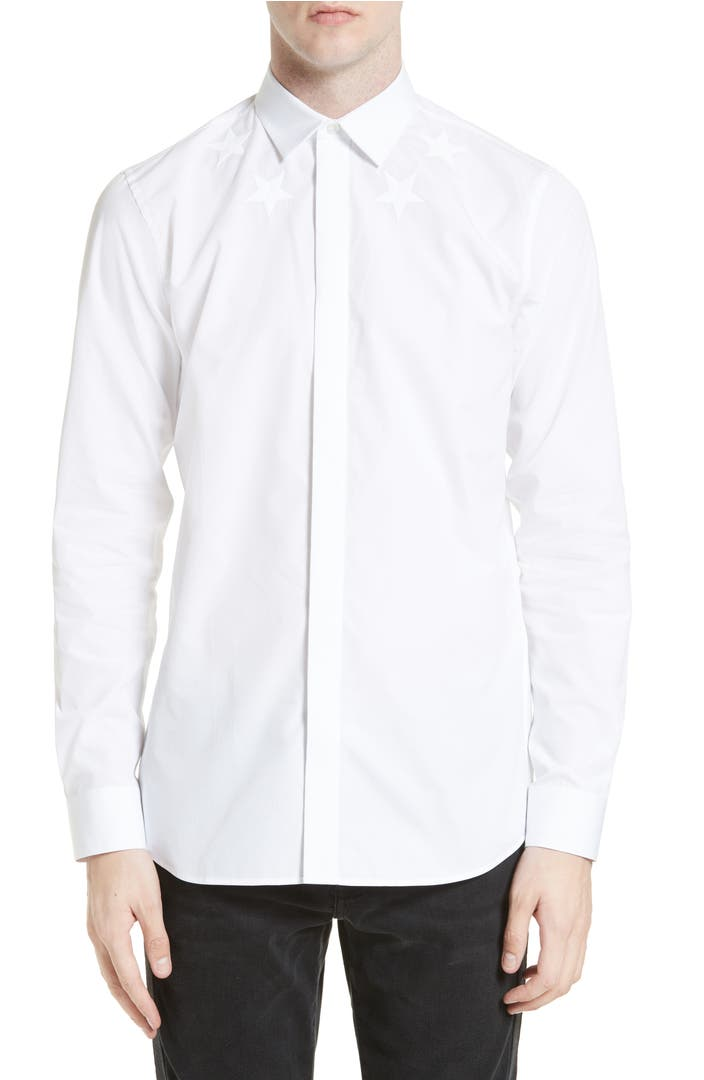 Givenchy tonal star embroidered sport shirt nordstrom for Givenchy 5 star shirt