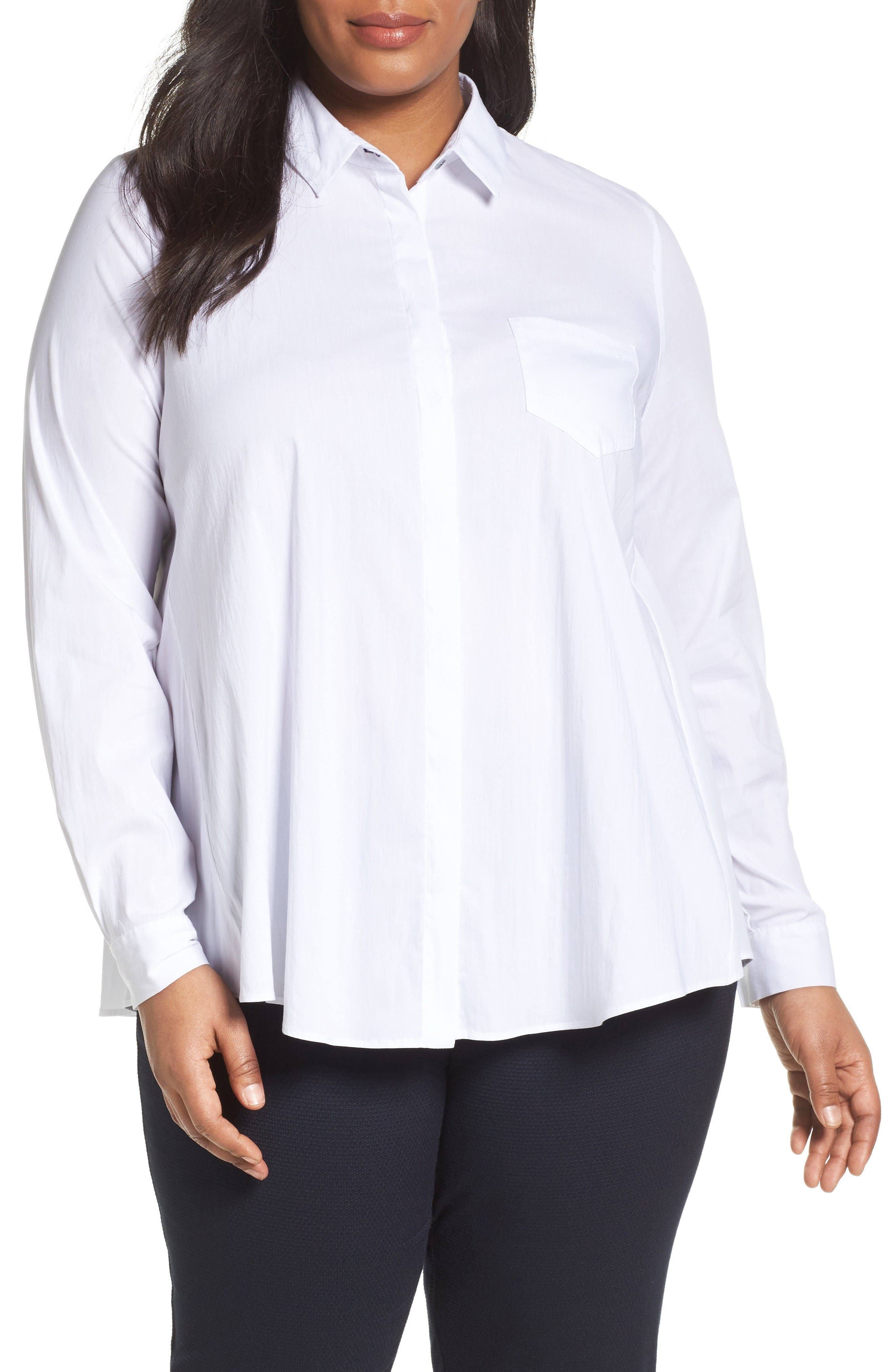 PERSONA BY MARINA RINALDI Beta Stretch Poplin Shirt