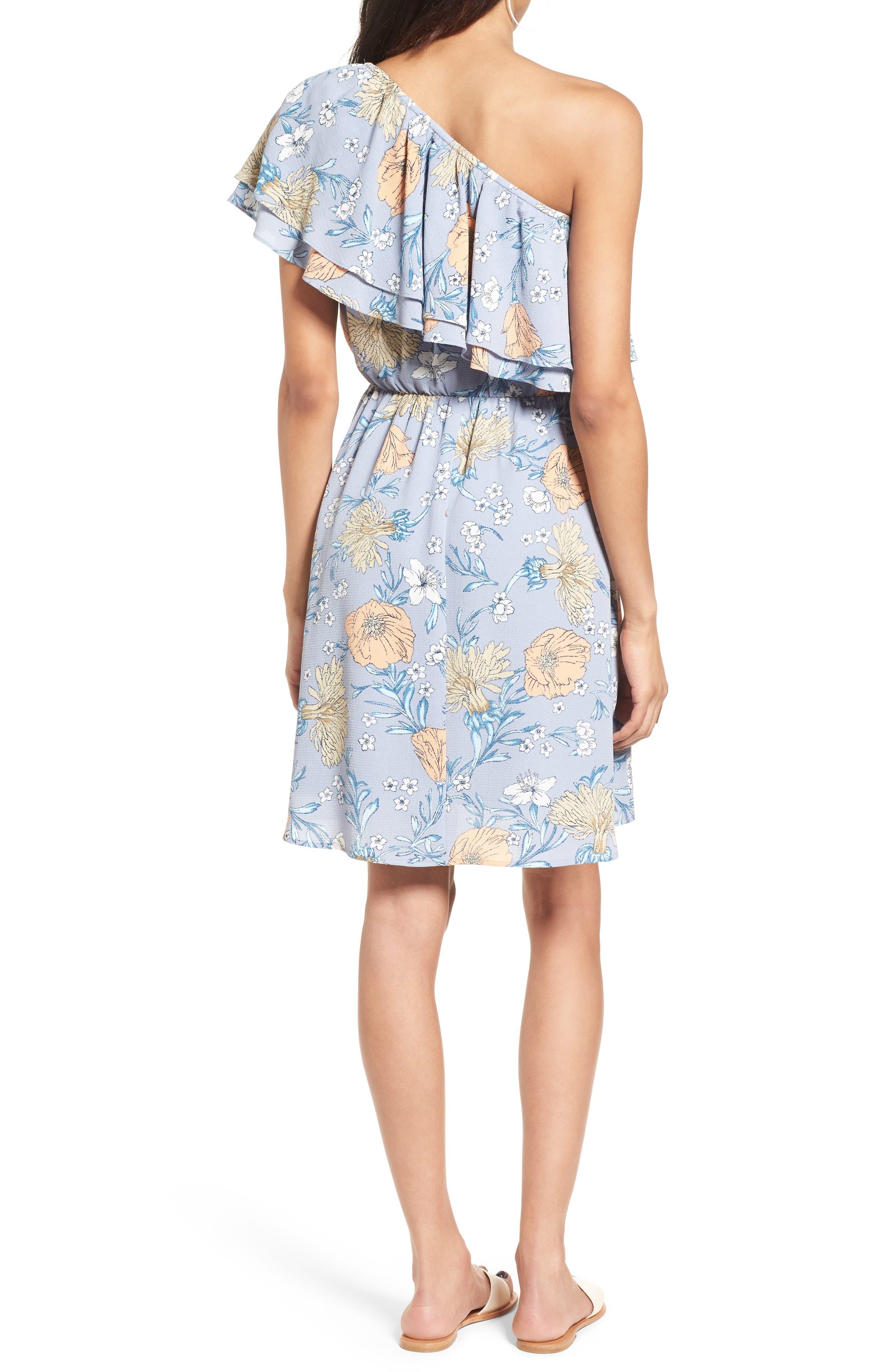 Alternate Image 2  - Lush Ruffle One-Shoulder Dress