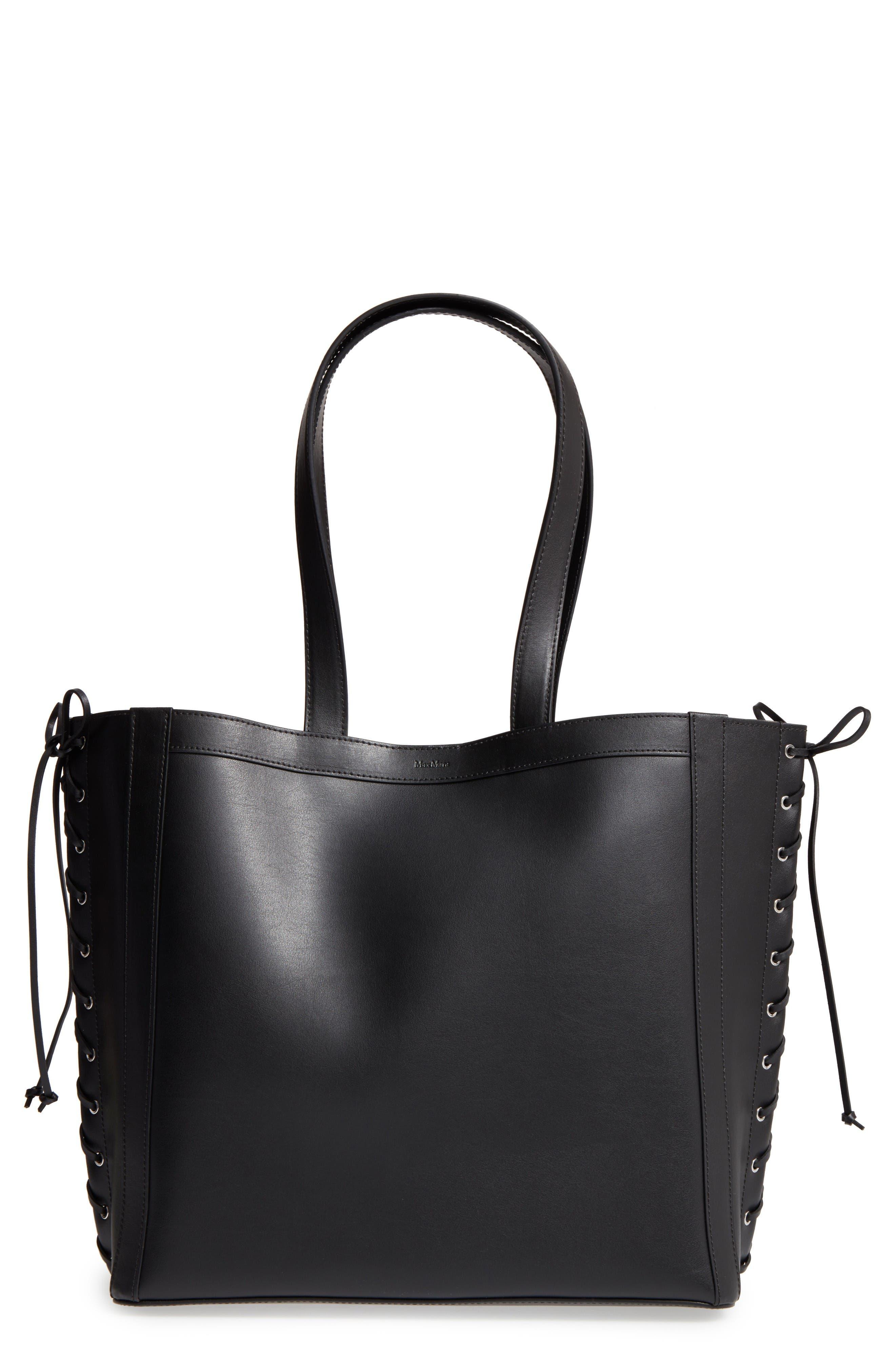 MAX MARA Large Leather Shopper