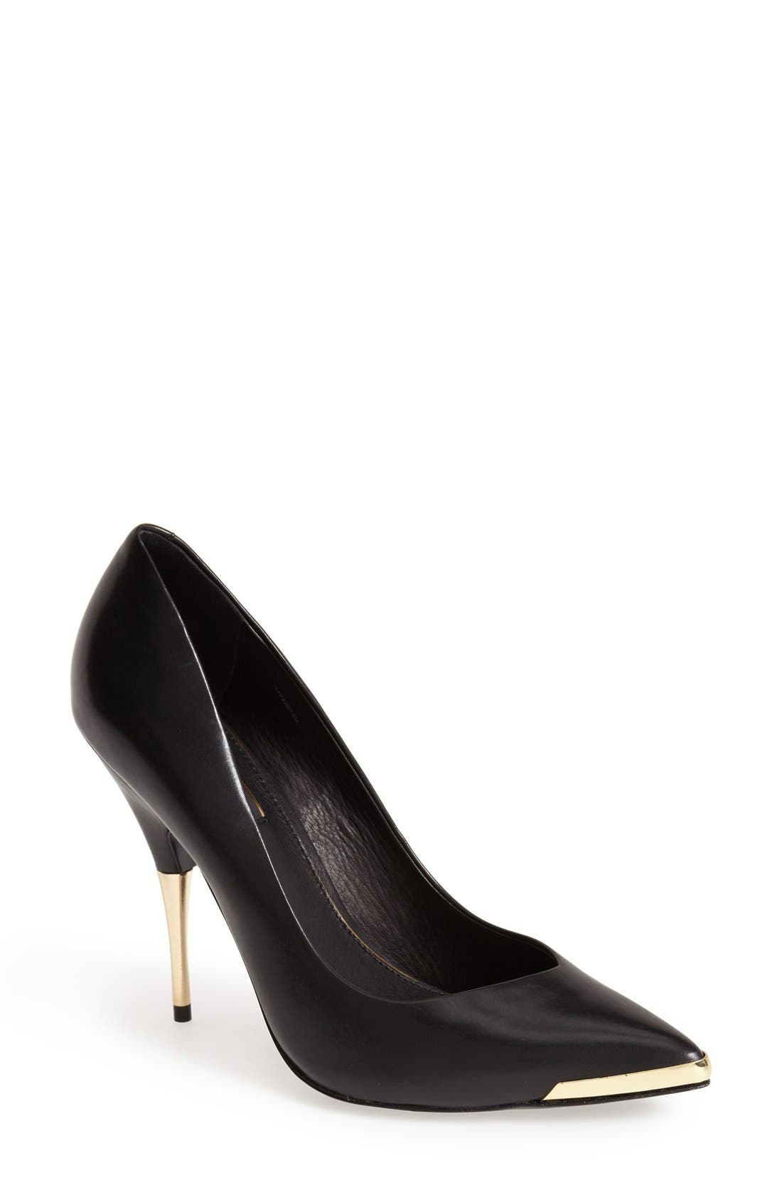Alternate Image 1 Selected - Rachel Zoe 'Carina' Leather Pointy Toe Pump (Women)