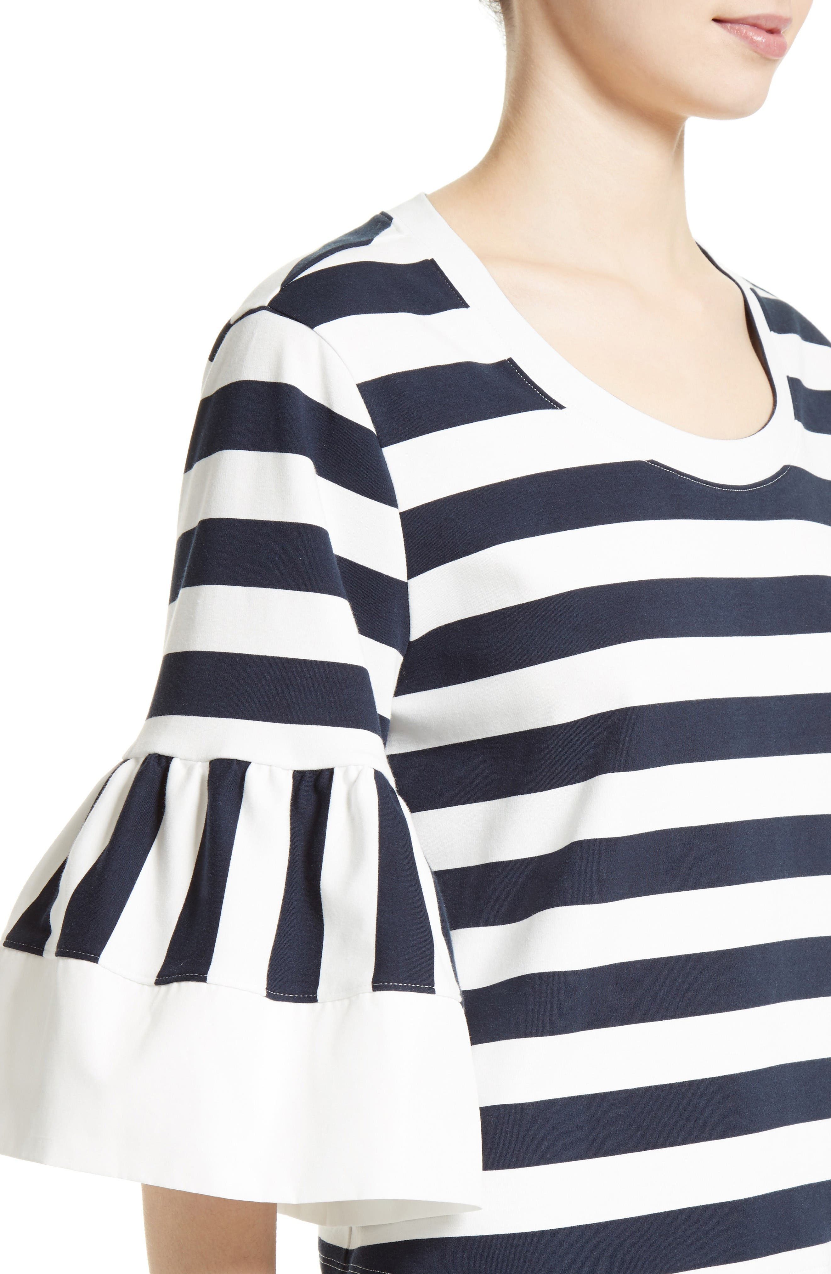 Alternate Image 5  - See by Chloé Stripe Jersey Bell Sleeve Top (Nordstrom Exclusive)