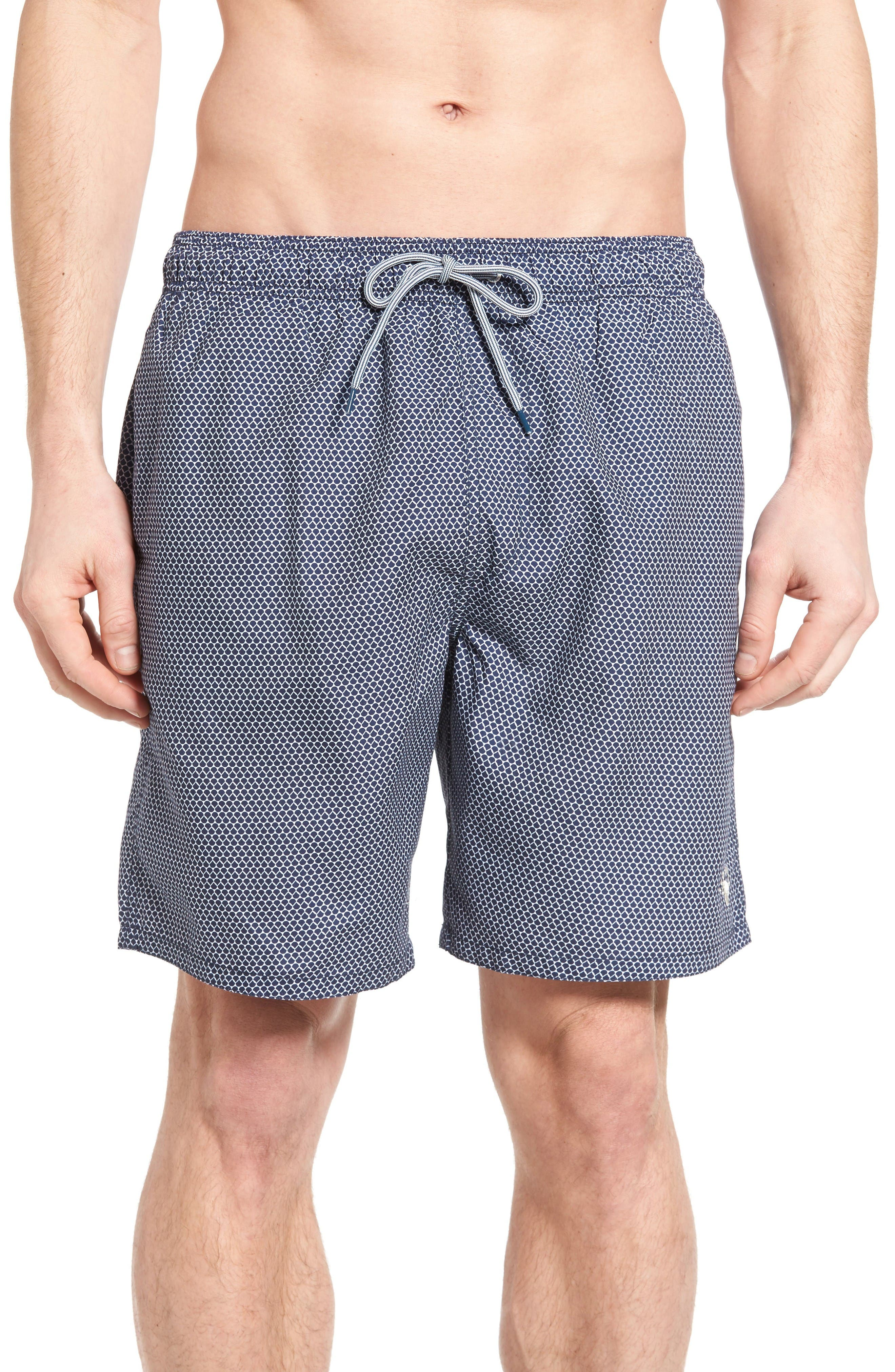 Ted Baker London Jumbura Geo Print Swim Trunks