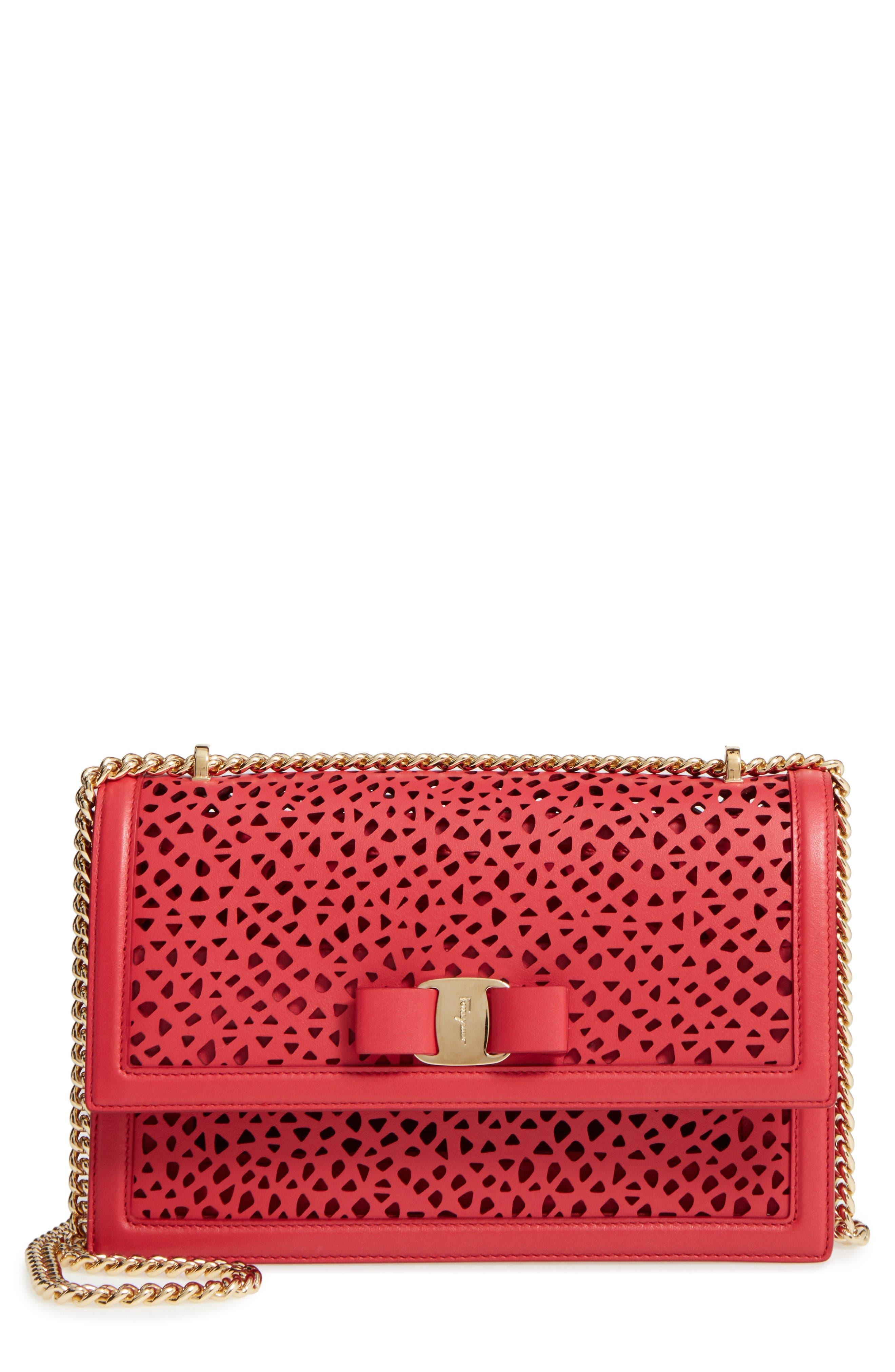 Alternate Image 1 Selected - Salvatore Ferragamo Medium Ginny Leather Shoulder Bag