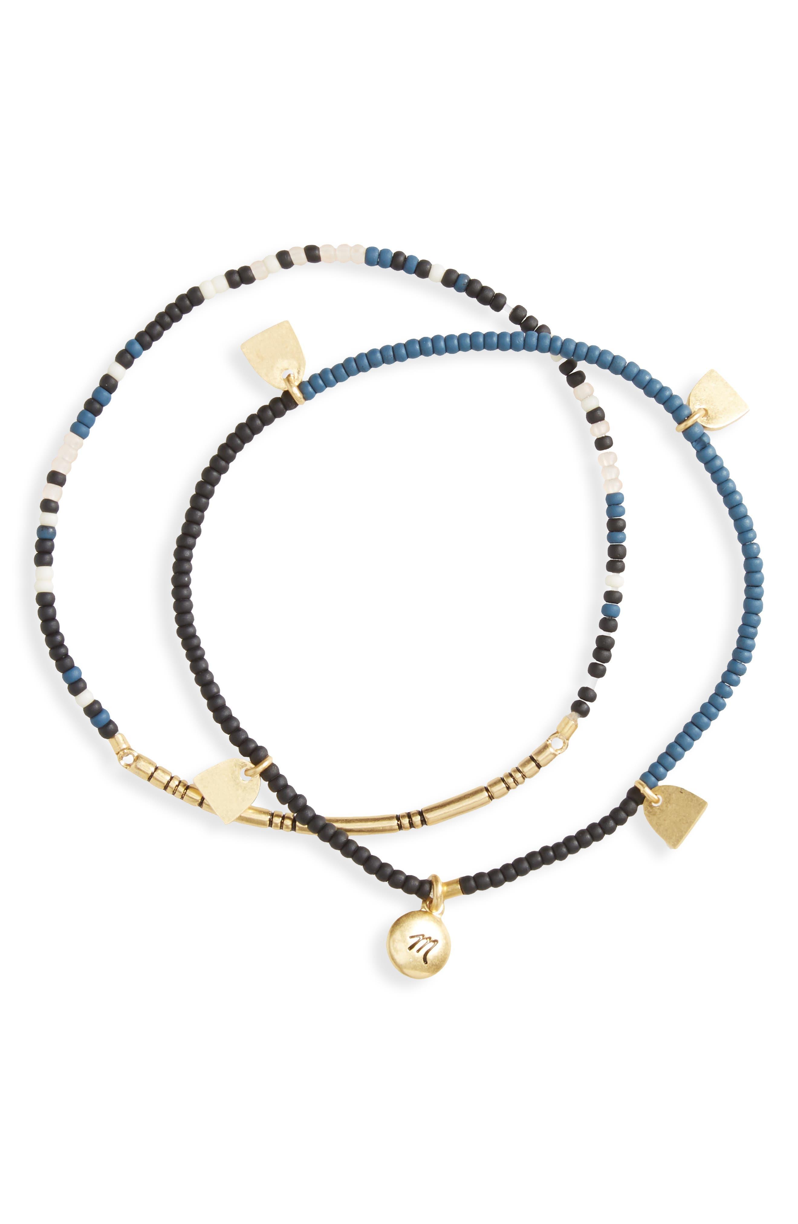 Main Image - Madewell Set of 2 Tassel Stretch Bracelets