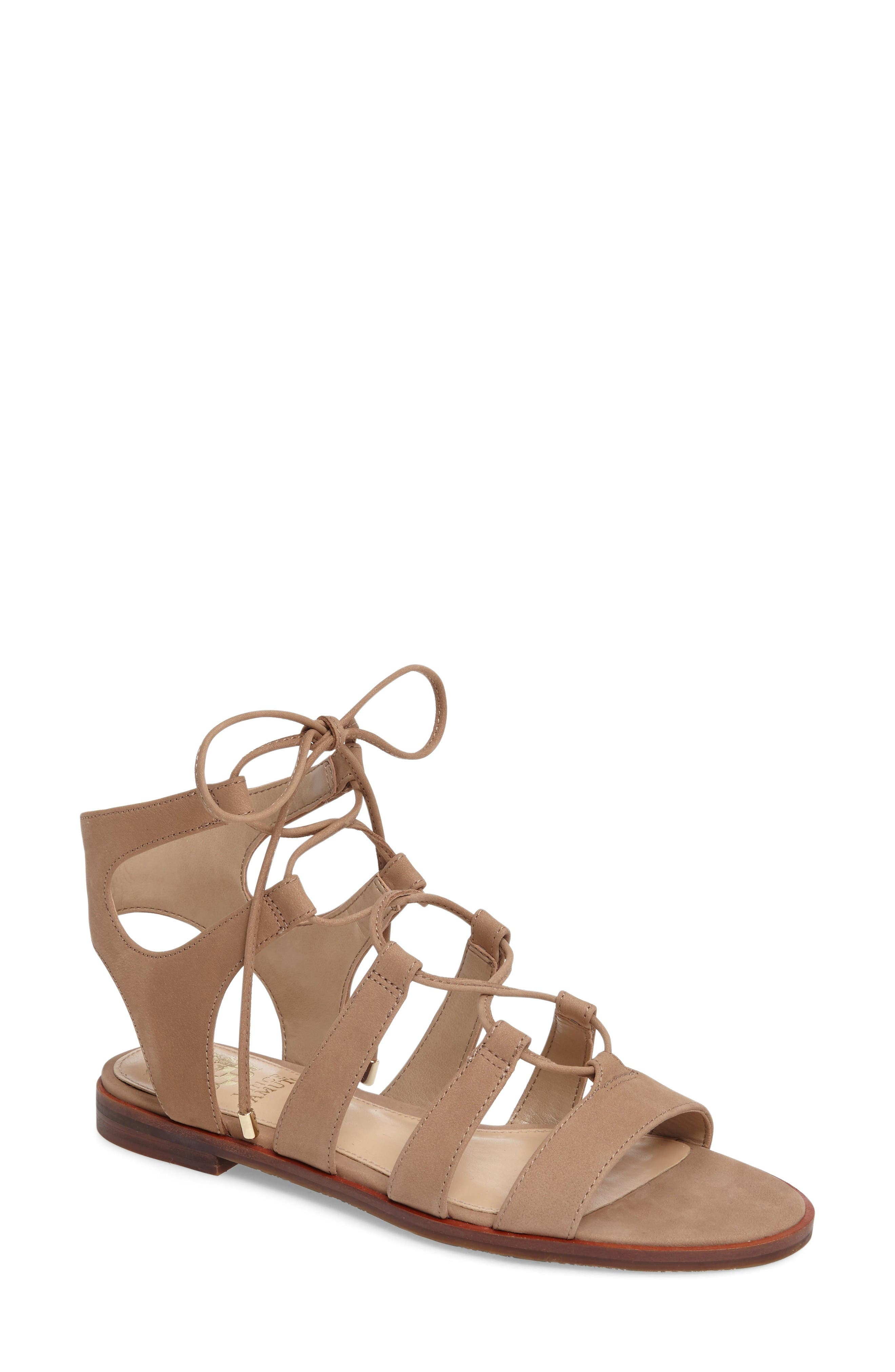 Alternate Image 1 Selected - Vince Camuto Tany Lace-Up Sandal (Women)