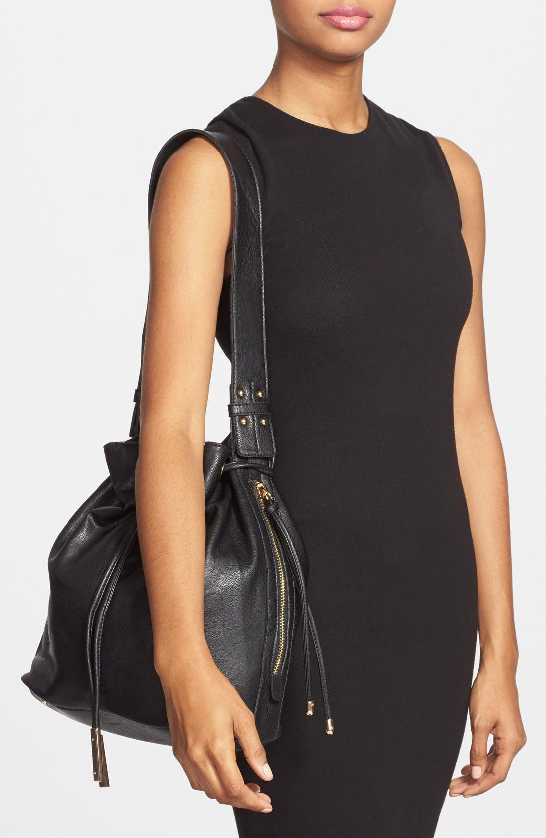 Alternate Image 2  - Sole Society 'Logan' Faux Leather Bucket Bag
