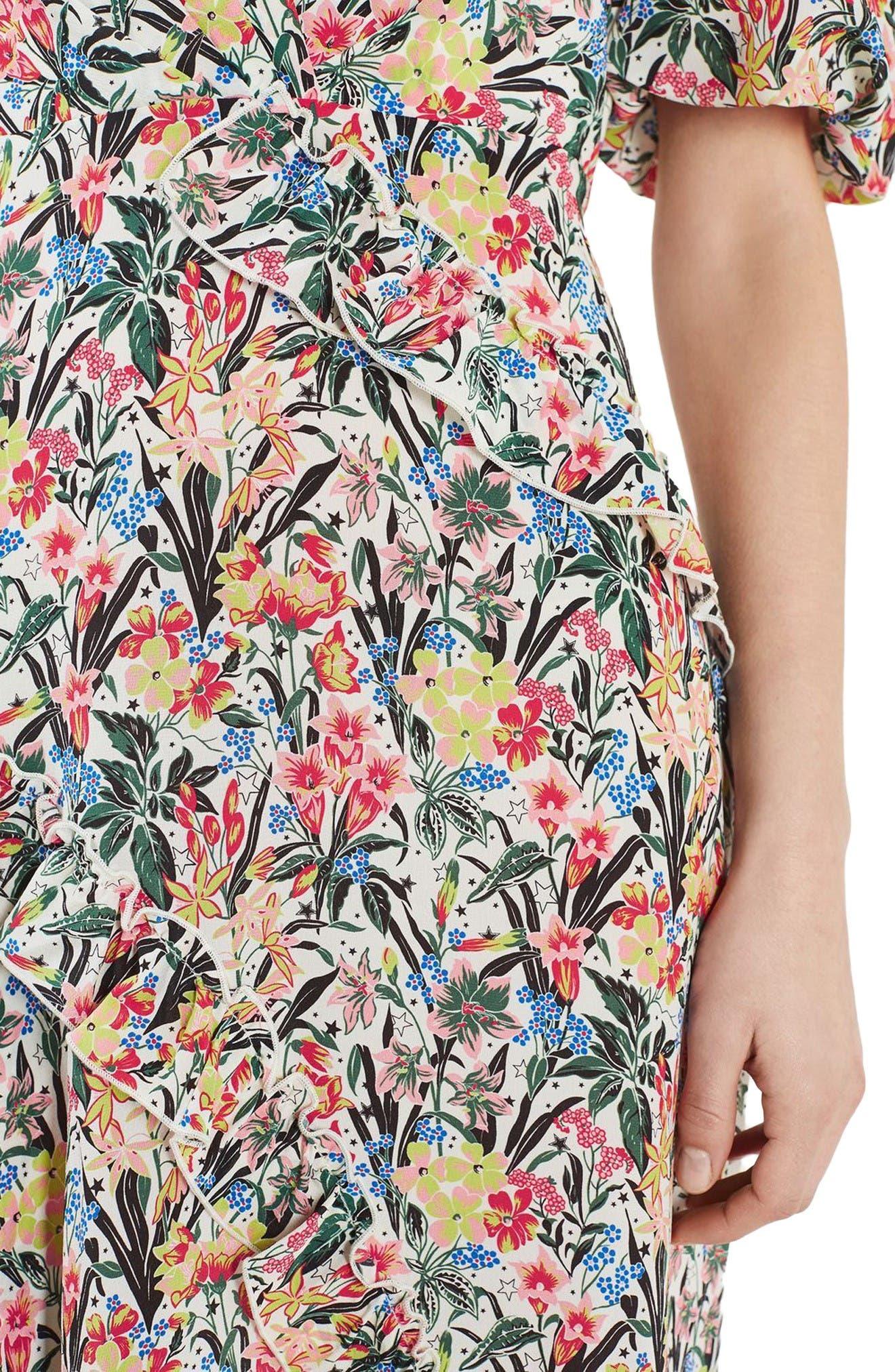 Alternate Image 7  - Topshop Unique Aster Silk Midi Dress