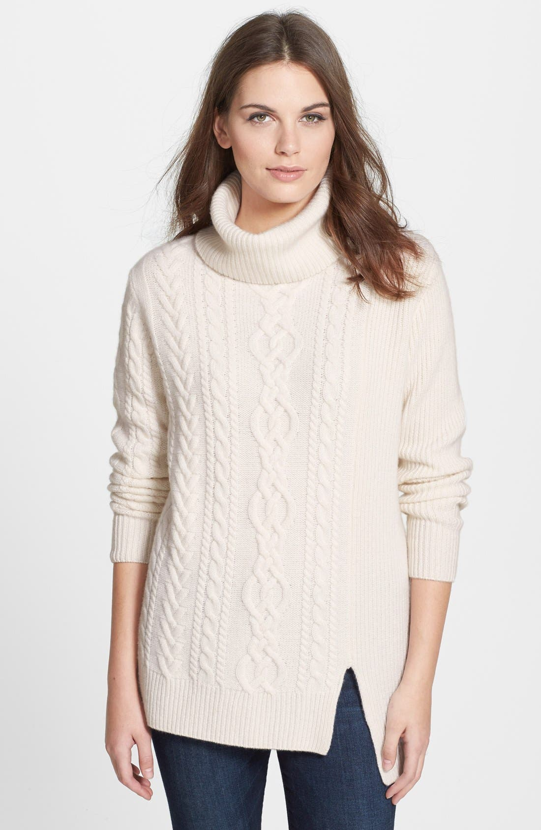 Alternate Image 1 Selected - Nordstrom Collection Cashmere Cable Pullover