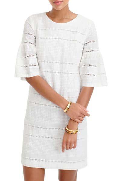 好感度担当 J. Crew 白色连衣裙,营造雅致的轻熟look
