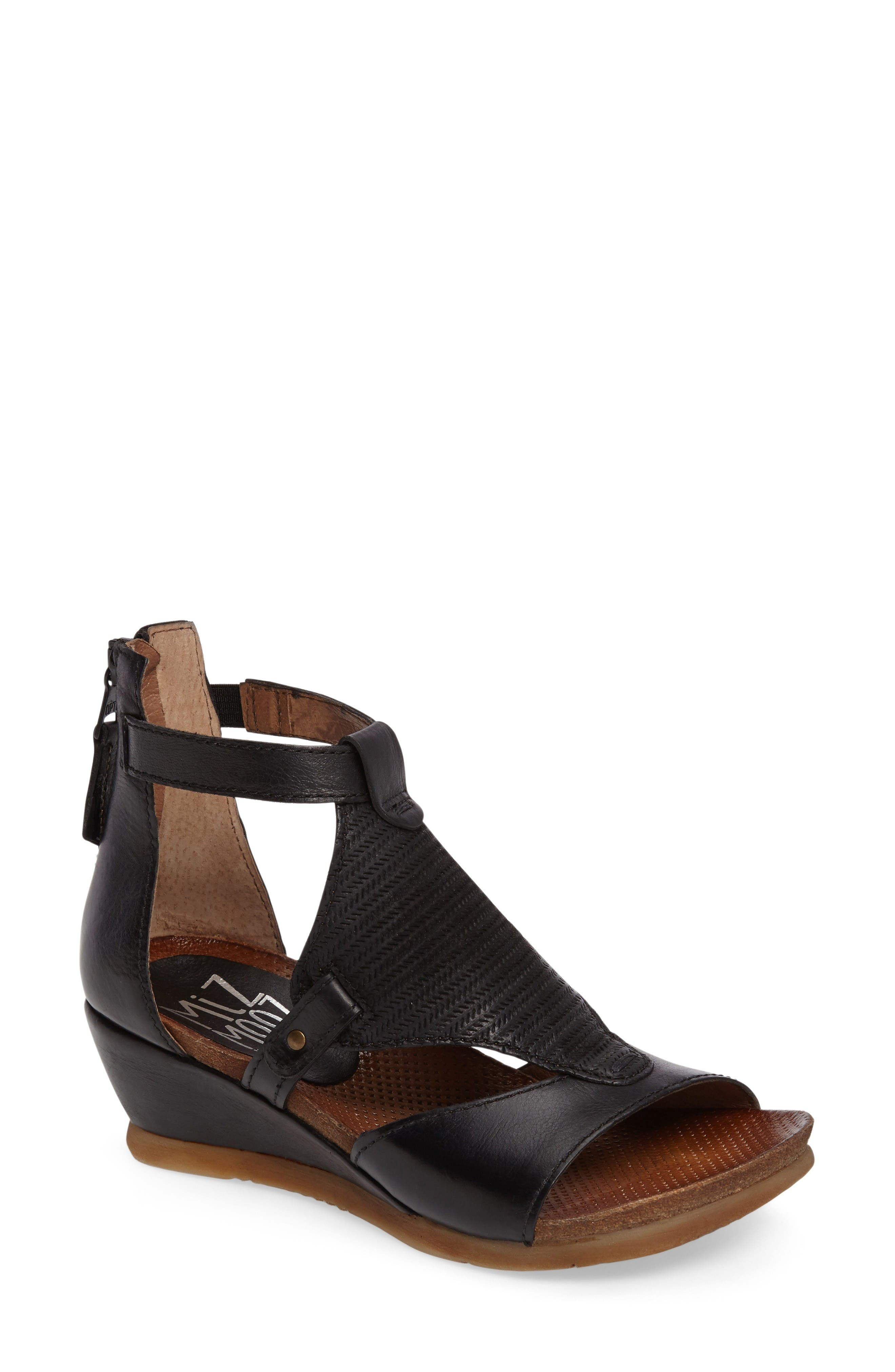 Alternate Image 1 Selected - Miz Mooz Maisie Wedge Sandal (Women)