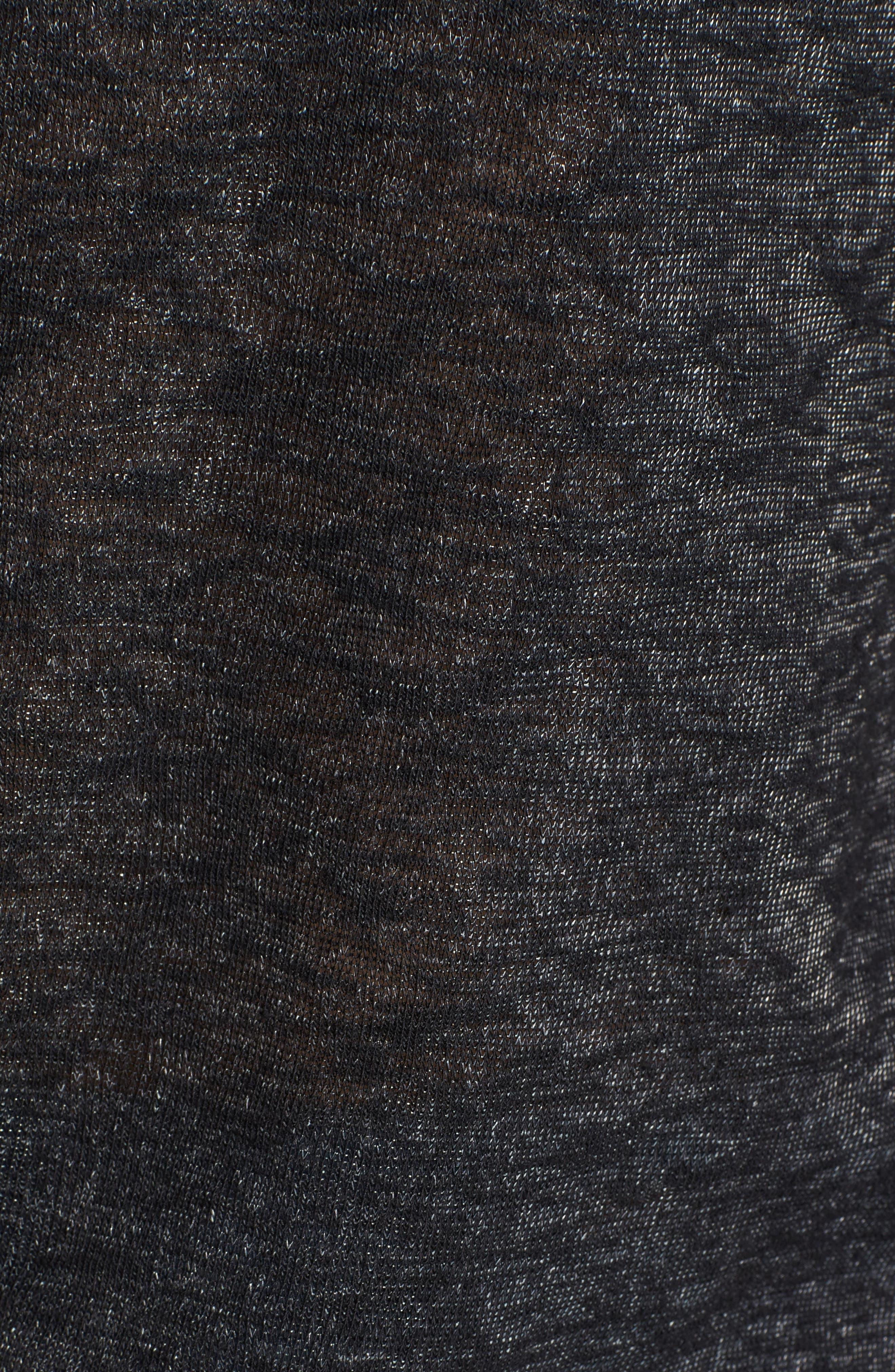 Alternate Image 5  - Pleione Ribbon Tie Sleeve Knit Top (Regular & Petite)