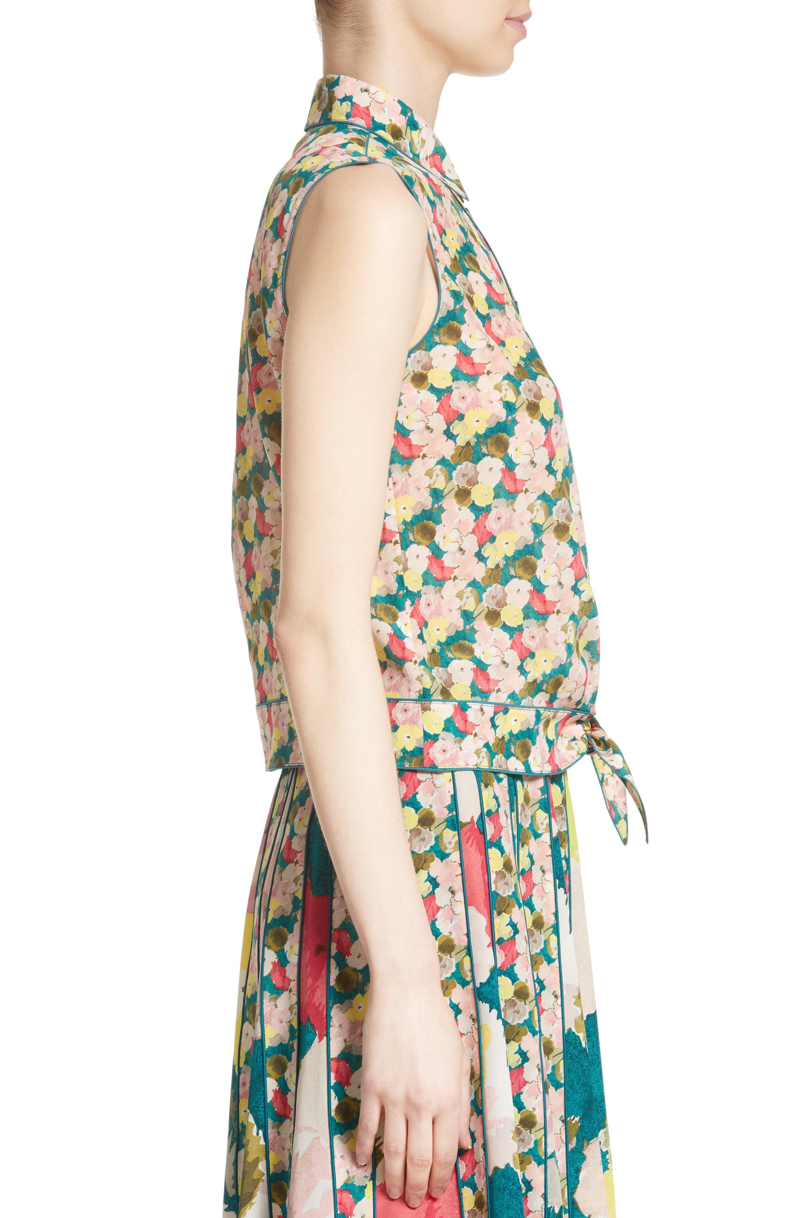Alternate Image 5  - Lafayette 148 New York Tisha Floral Silk Blouse