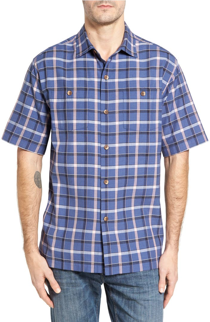 Tommy bahama peninsula plaid silk blend camp shirt nordstrom for Where to buy tommy bahama shirts