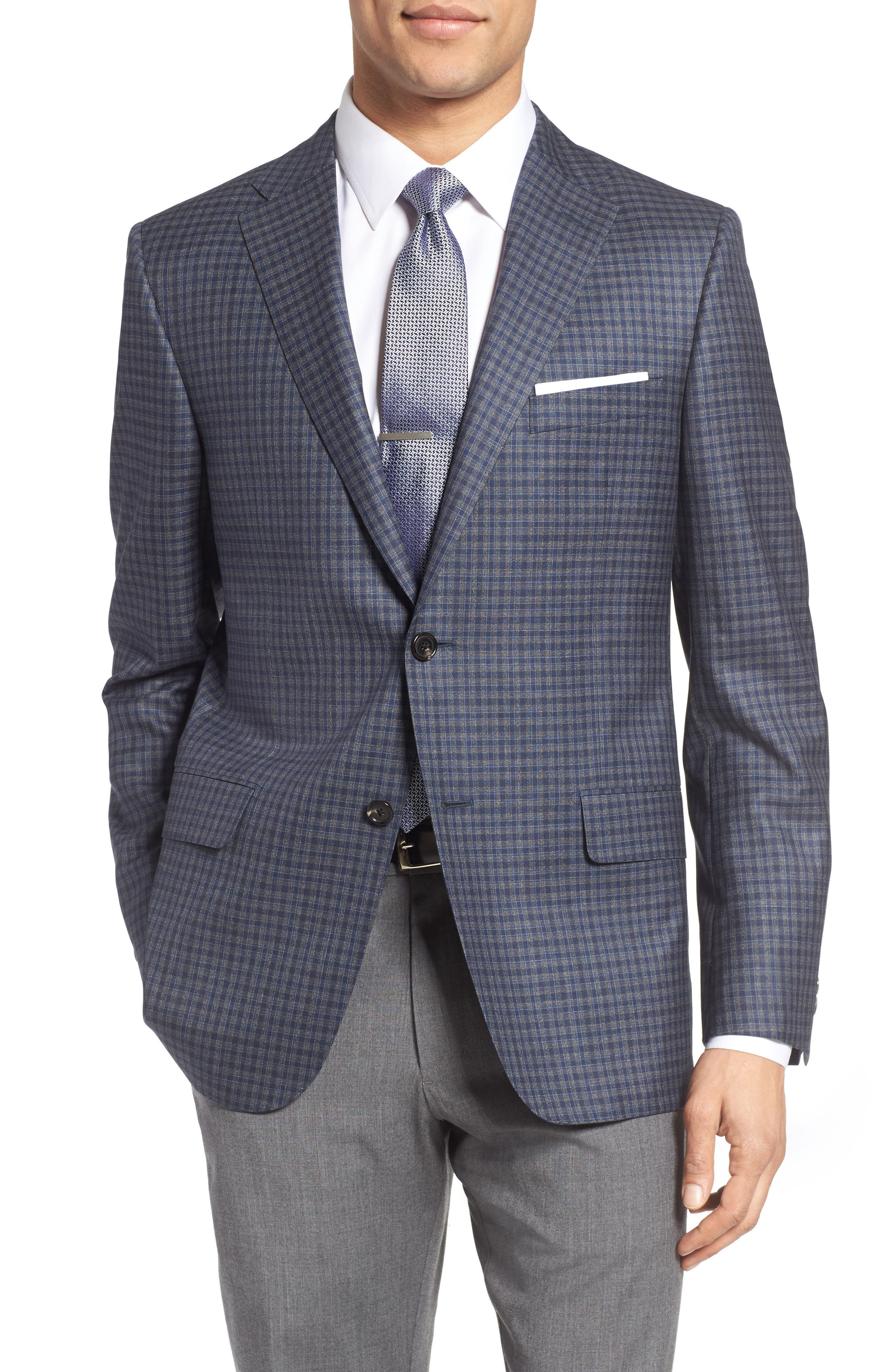 HICKEY FREEMAN Beacon Classic Fit Check Wool Sport