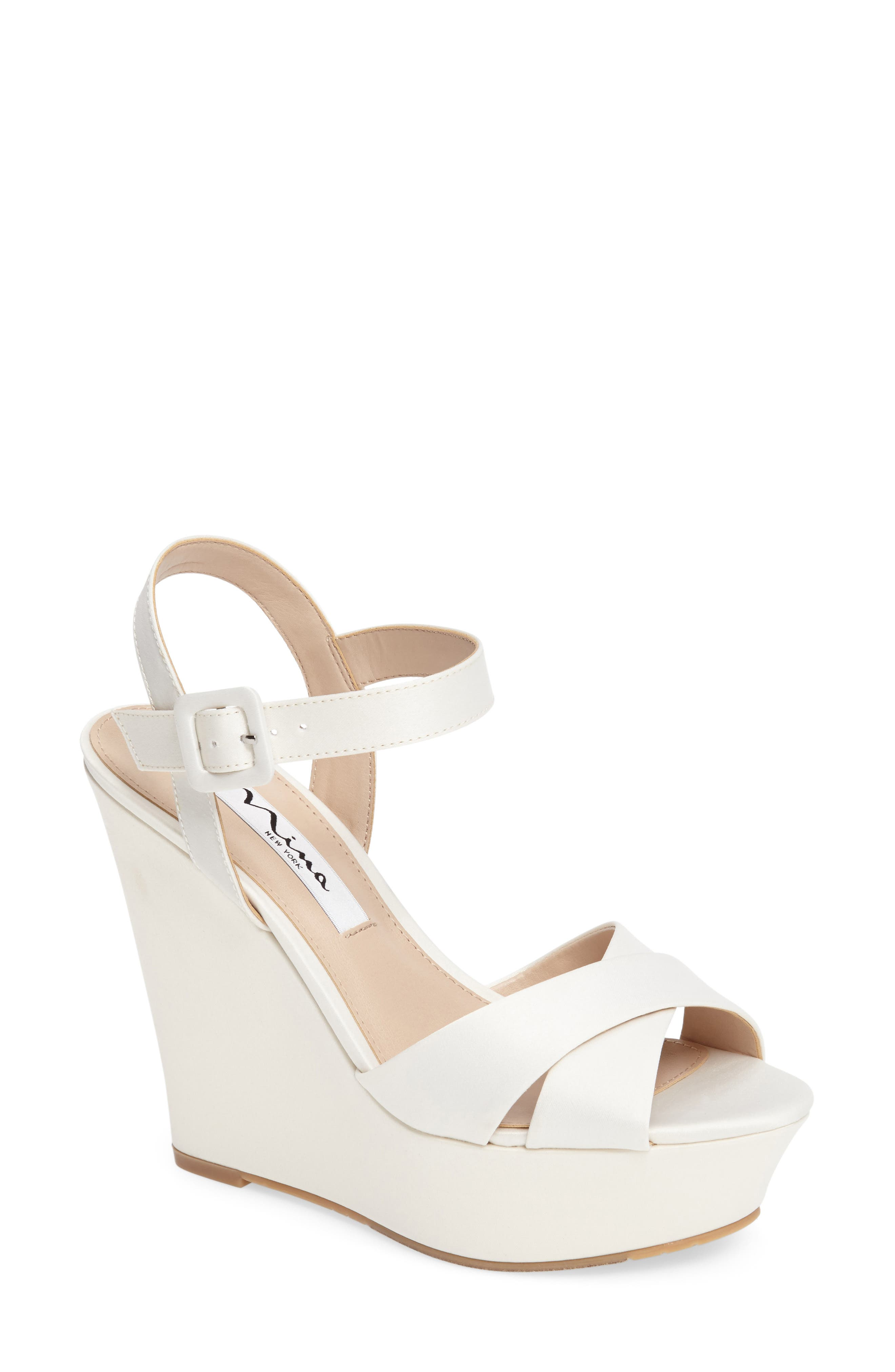 Alternate Image 1 Selected - Nina Jinjer Platform Wedge Sandal (Women)