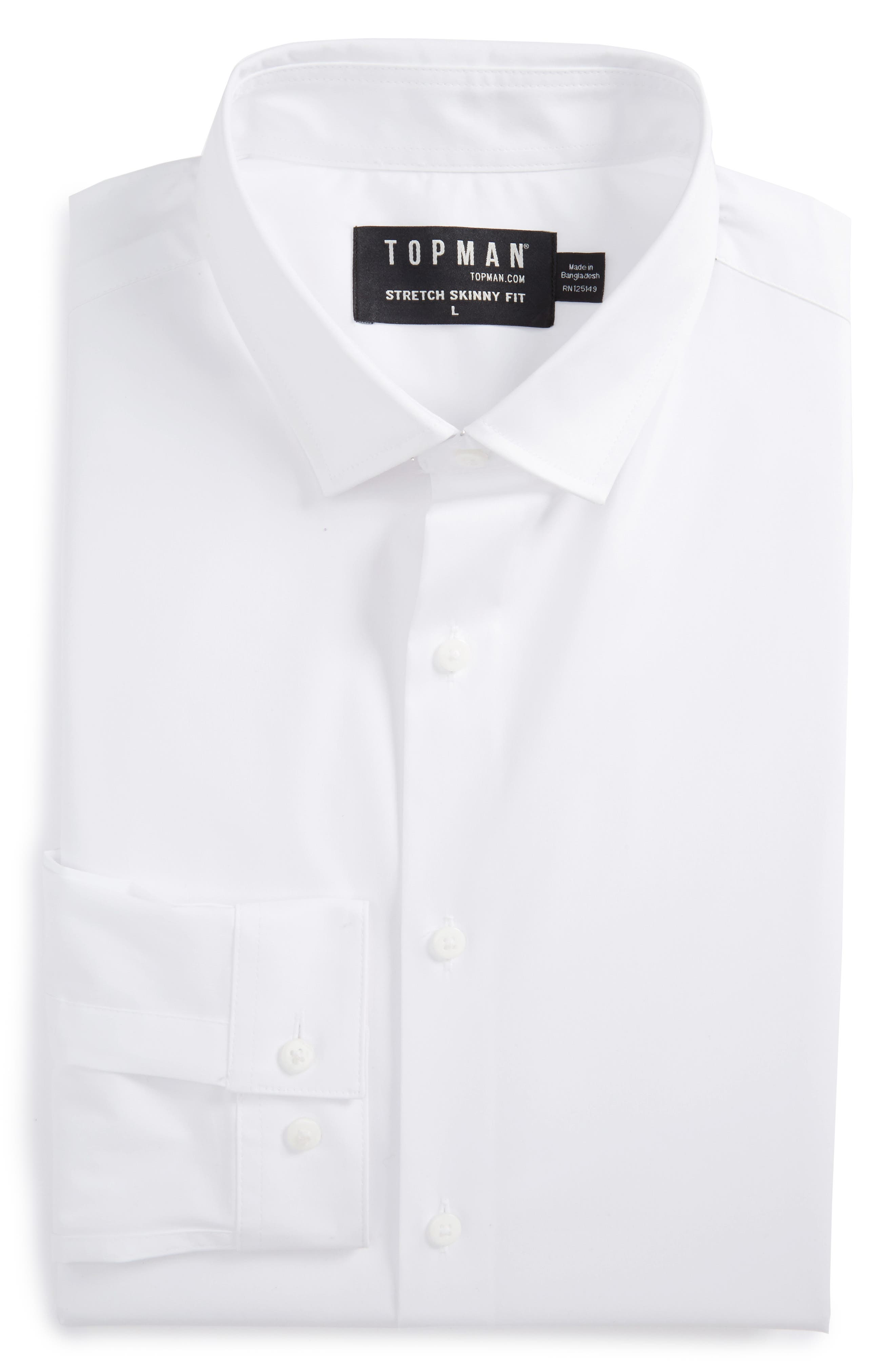 Topman Skinny Fit Stretch Dress Shirt