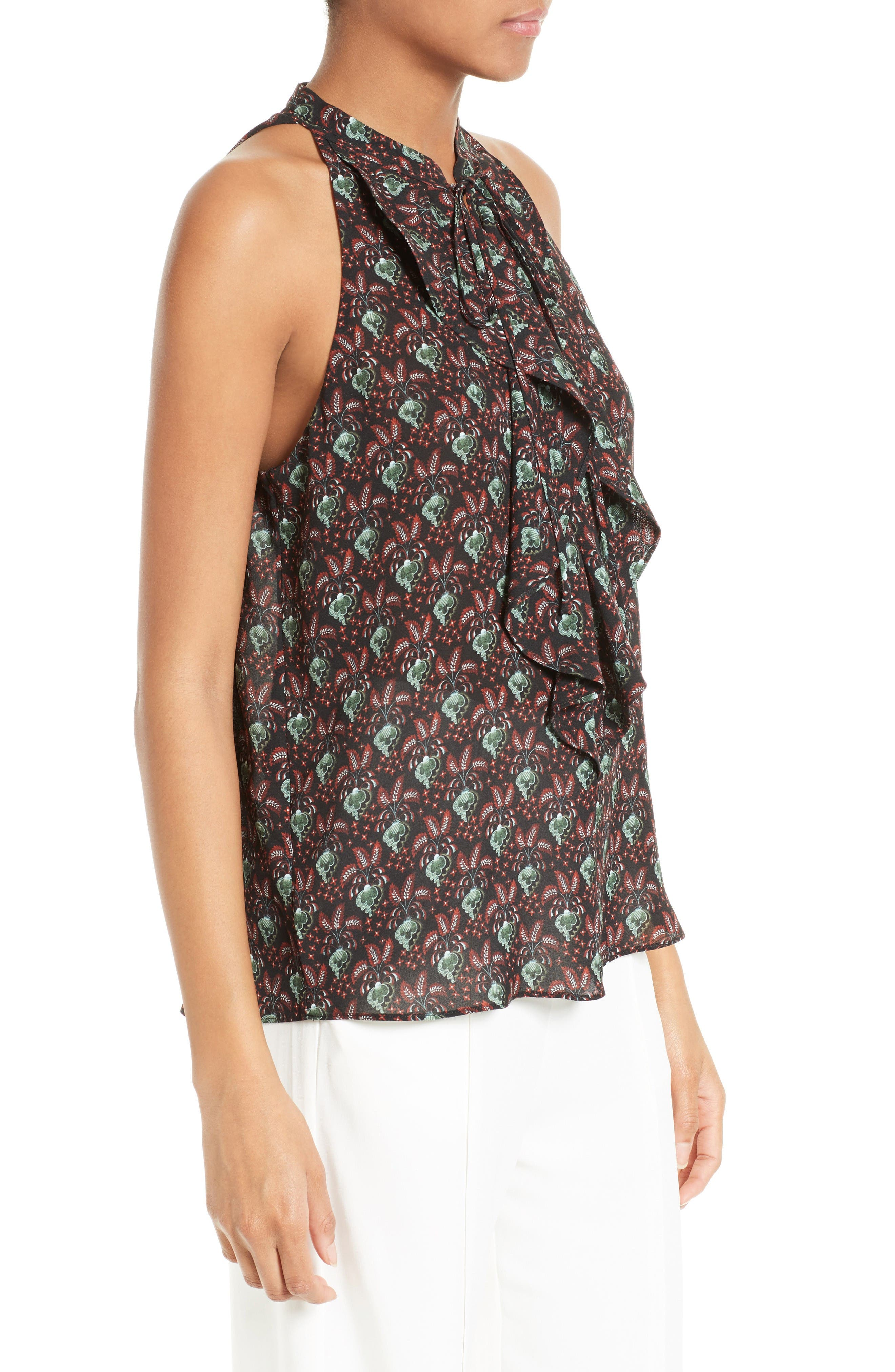 Alternate Image 3  - A.L.C. Floral Print Silk Top