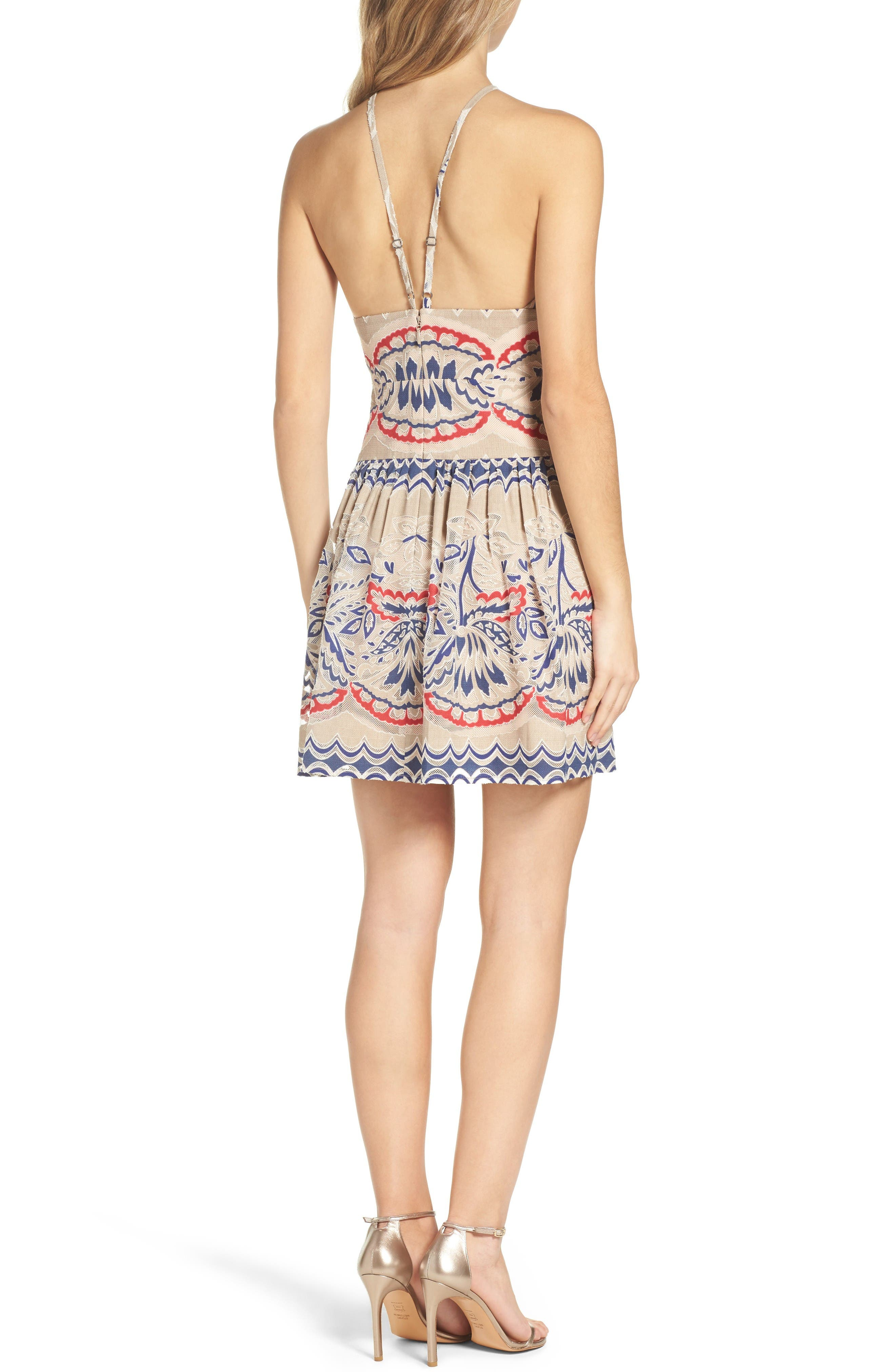 Alternate Image 2  - BCBGMAXAZRIA Fleur Drop Waist Dress