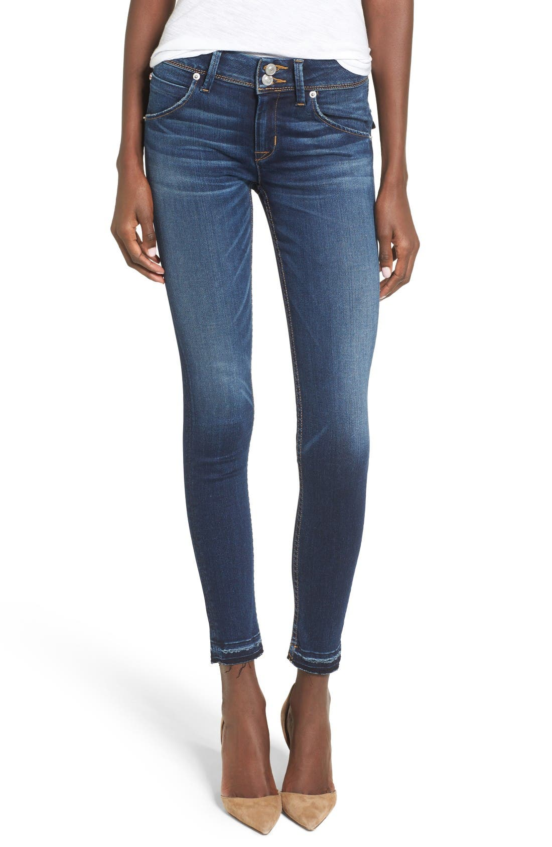 Alternate Image 1 Selected - Hudson Jeans Collin Skinny Jeans (Pin Point)