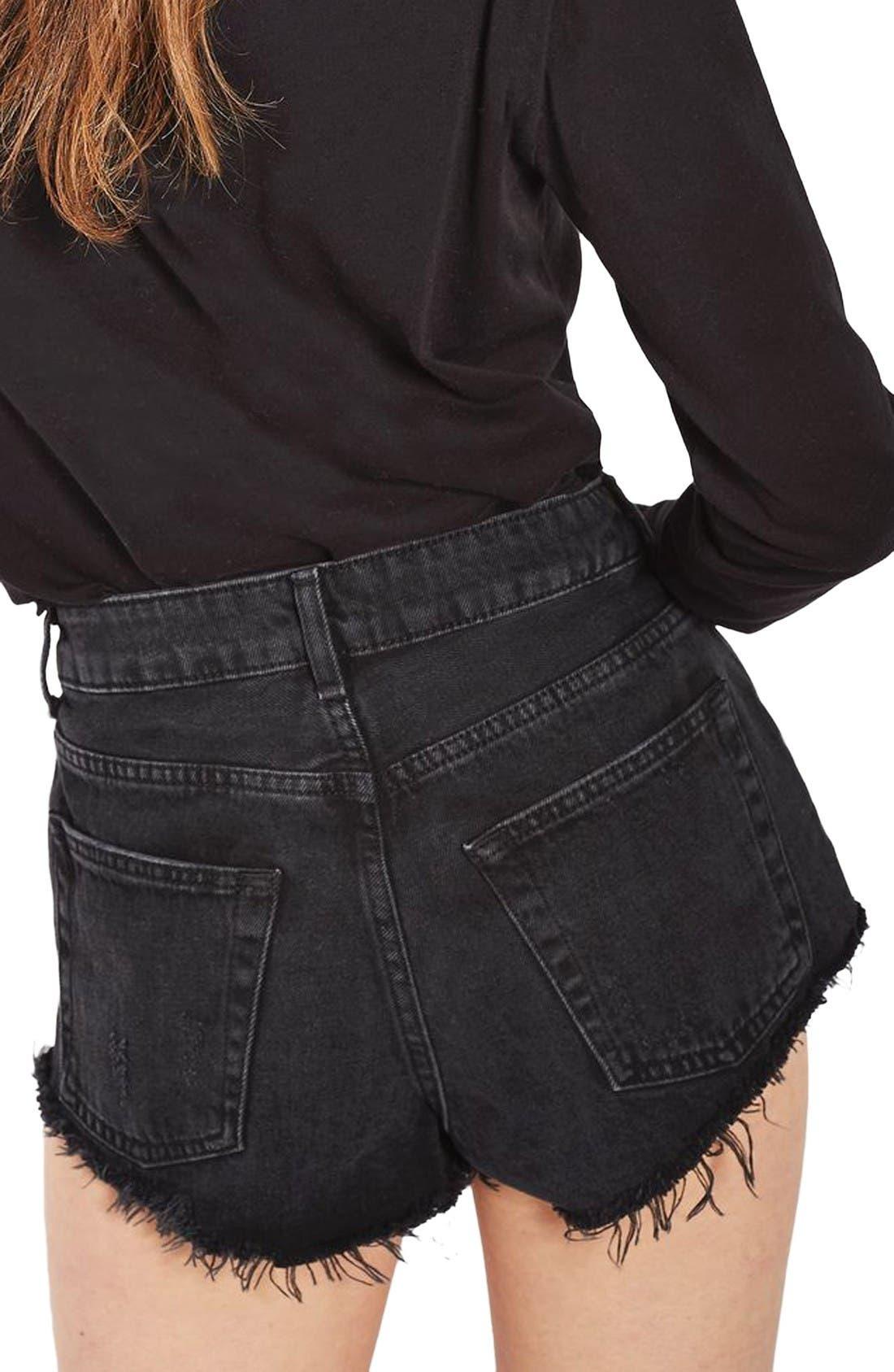 Alternate Image 3  - Topshop Kiri Stud Ripped Denim Shorts