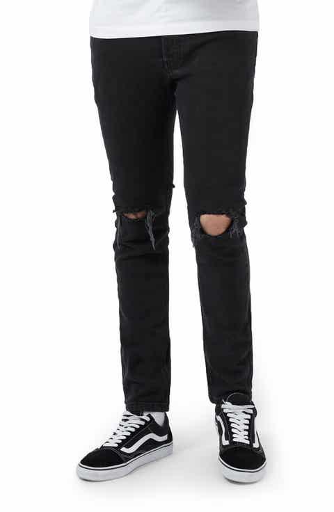 Topman Ripped Skinny Fit Jeans