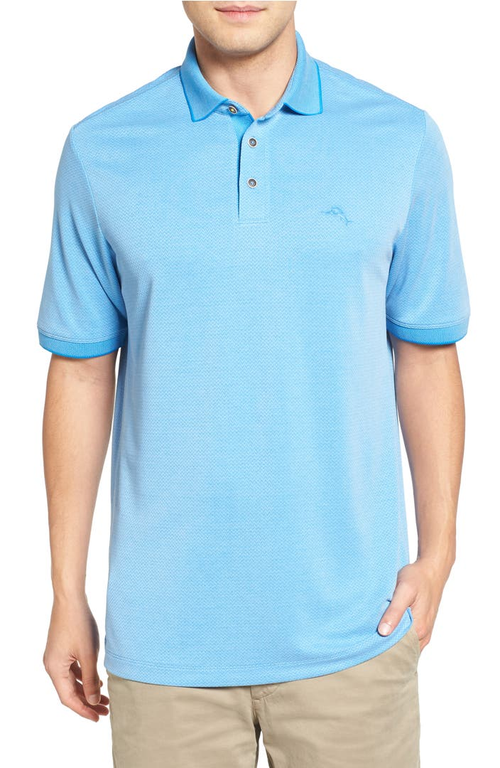 Tommy Bahama 39 Ocean View 39 Short Sleeve Jacquard Polo Big