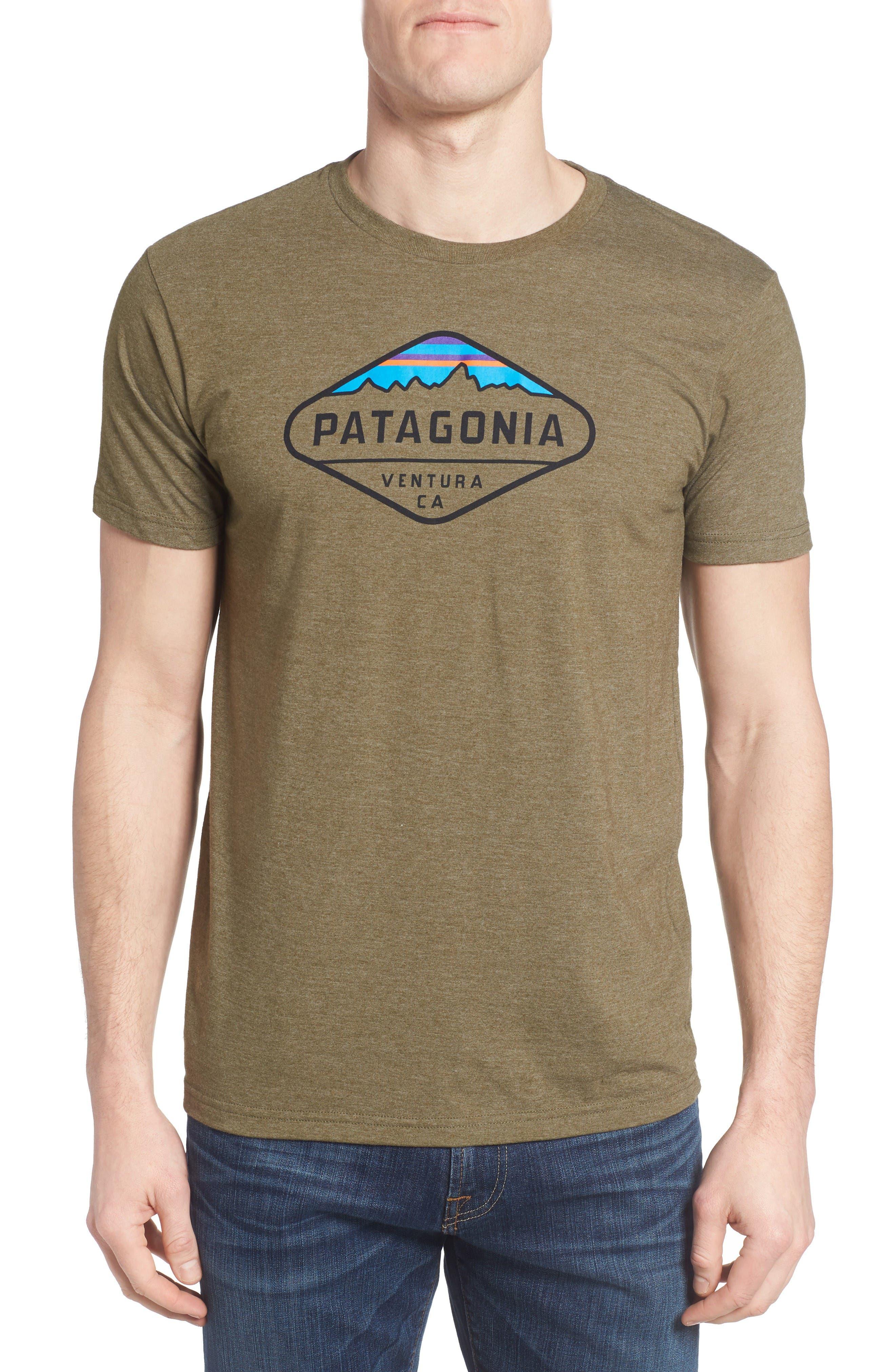 Patagonia 'Fitz Roy Crest' Slim Fit Organic Cotton Blend T-Shirt