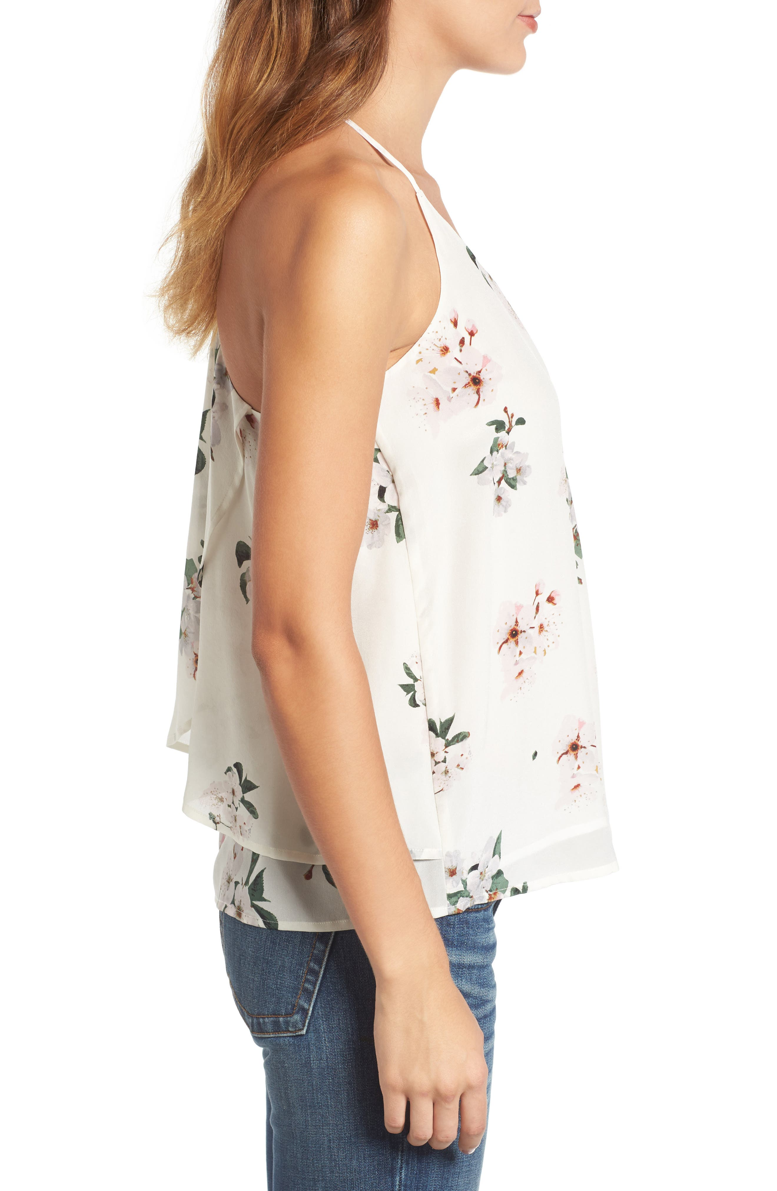 Alternate Image 3  - Lucky Brand Floral Silk Tank