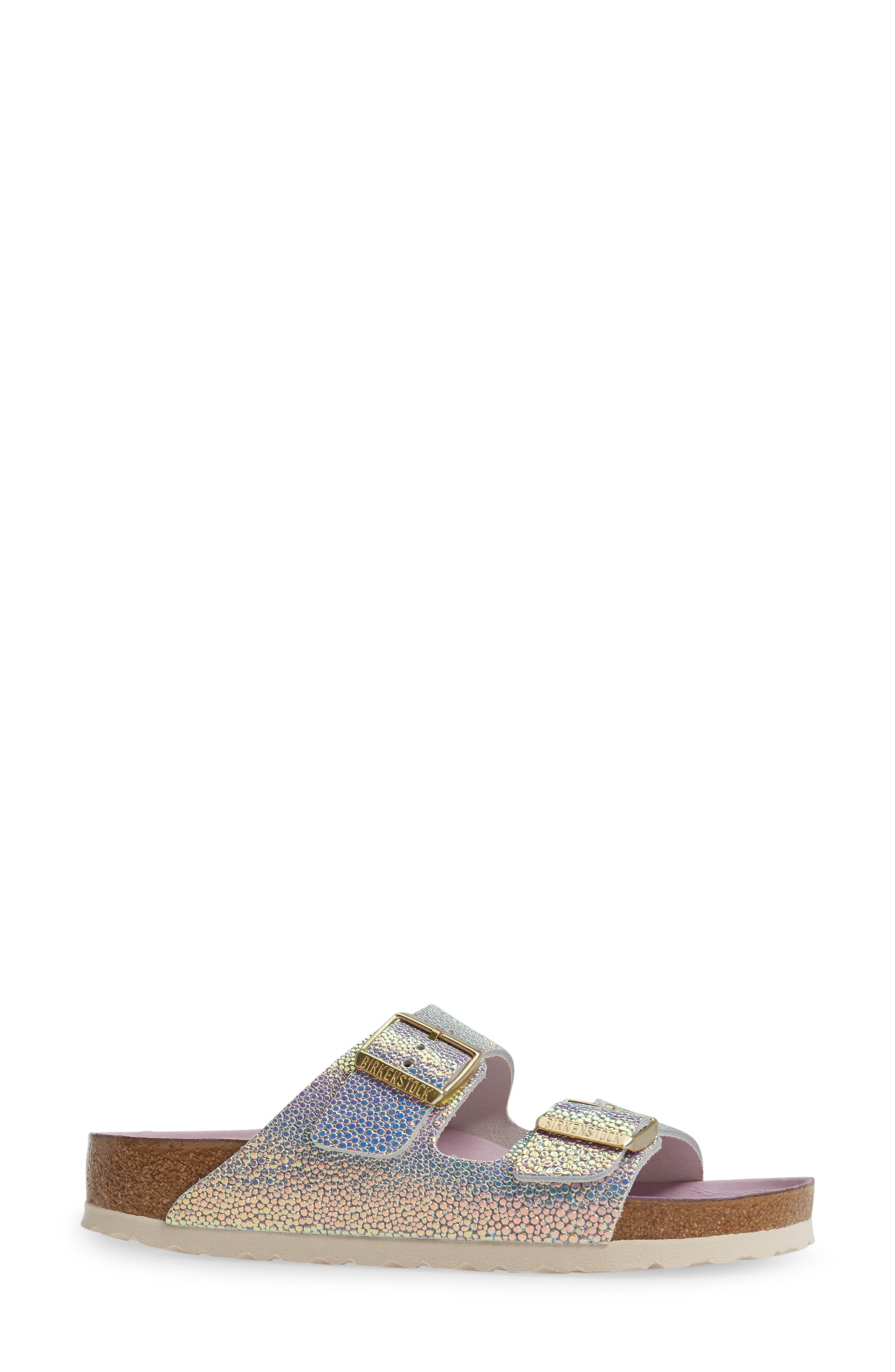 Alternate Image 3  - Birkenstock Arizona Lux Iridescent Slide Sandal (Women)