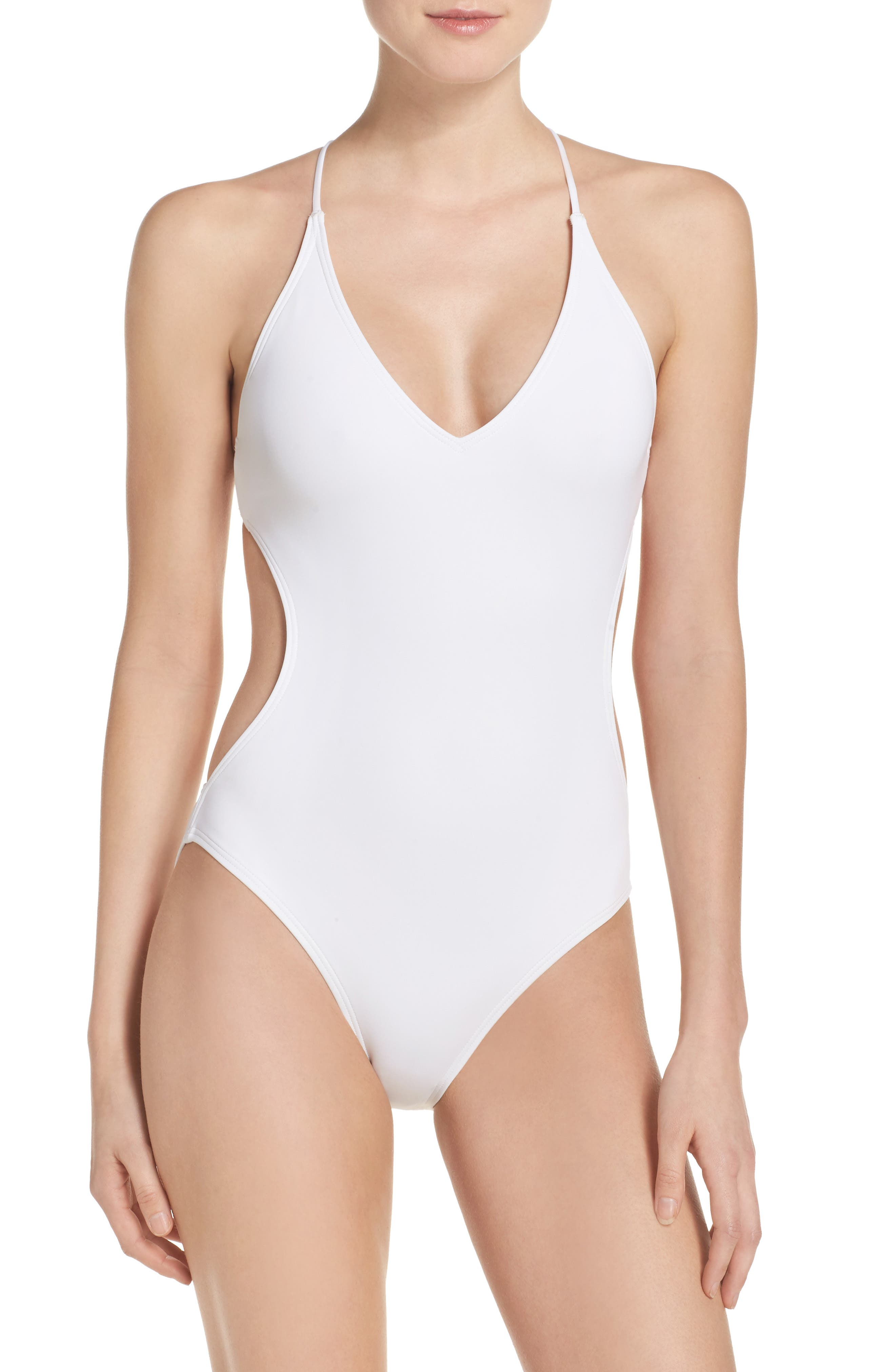 Vince Camuto Plunge One-Piece Swimsuit