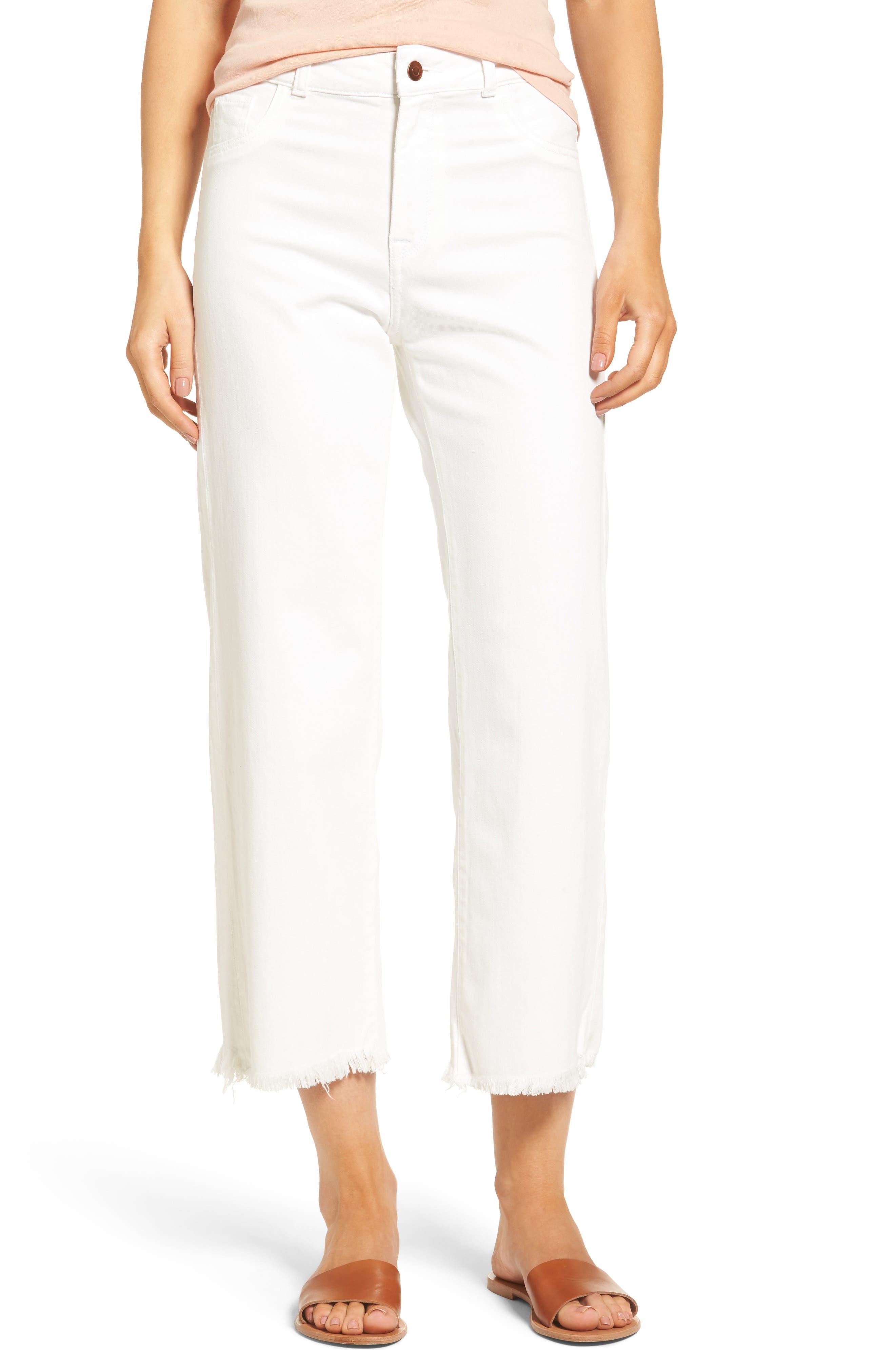 DL1961 Hepburn High Rise Wide Leg Jeans (Eggshell)